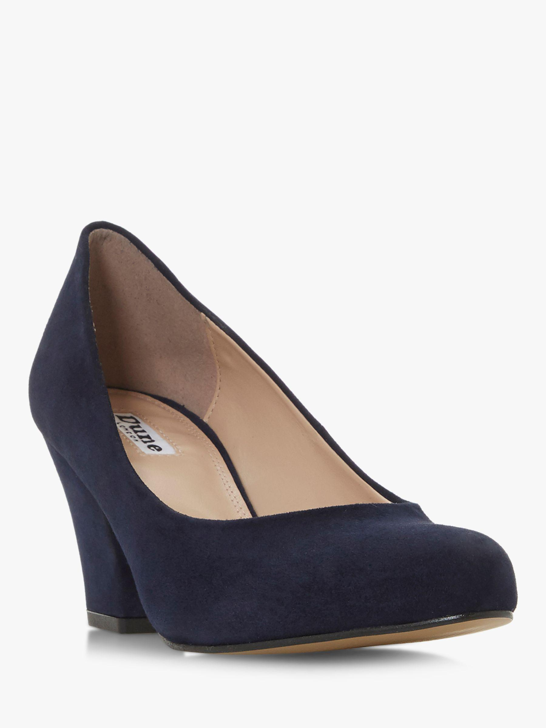 d0b6b99d7d2 Dune Anthea Mid Heel Court Shoes in Blue - Lyst