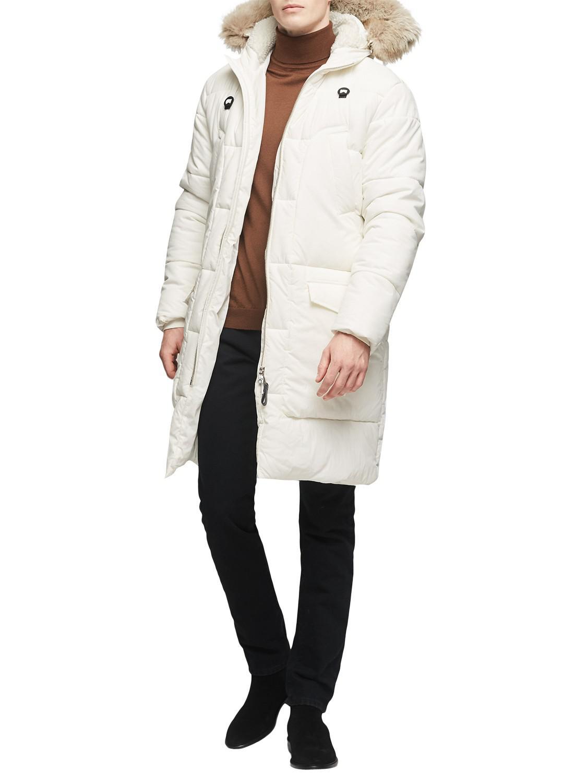 Reiss Colarado Faux Fur Hood Parka Jacket in White for Men