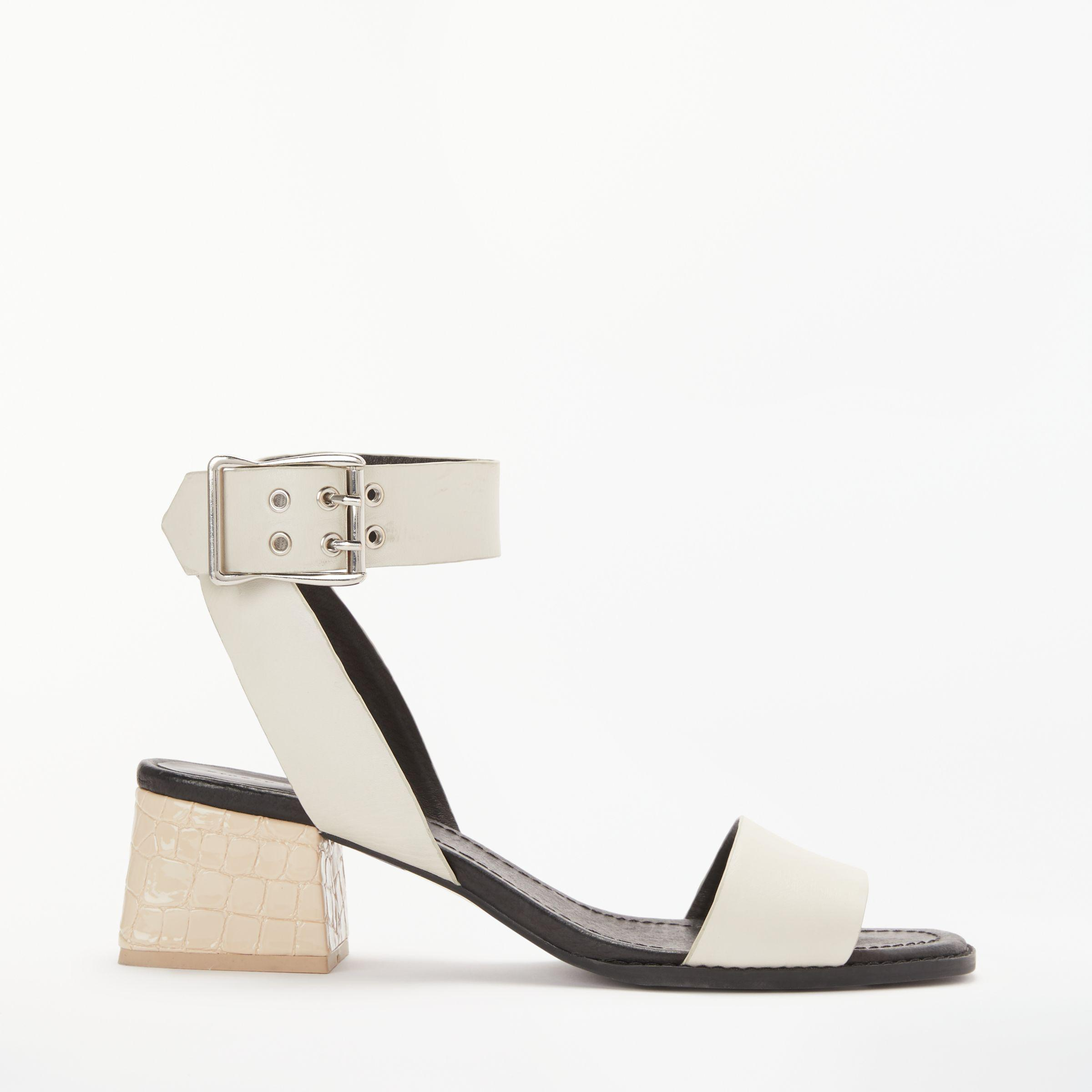 Howling White Leather Ankle Strap Sandal Finery SWbFD