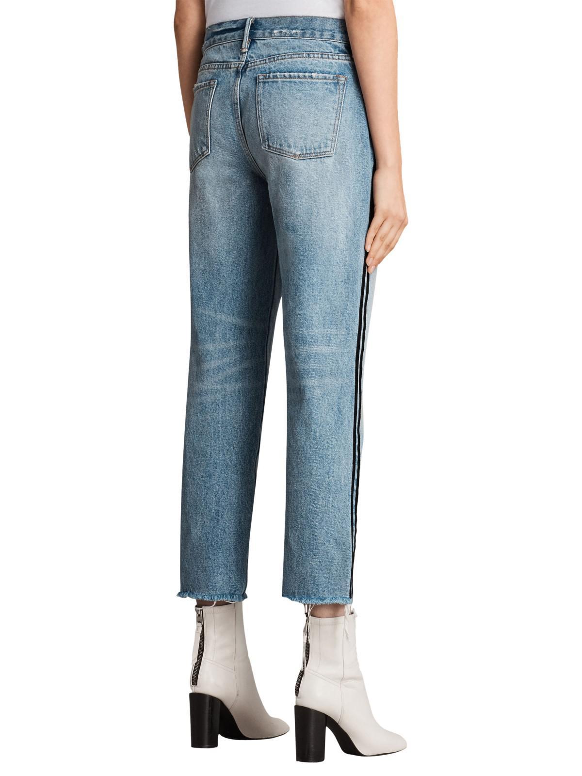 AllSaints Denim Boys Stripe Jeans in Light Indigo/Blue (Blue)