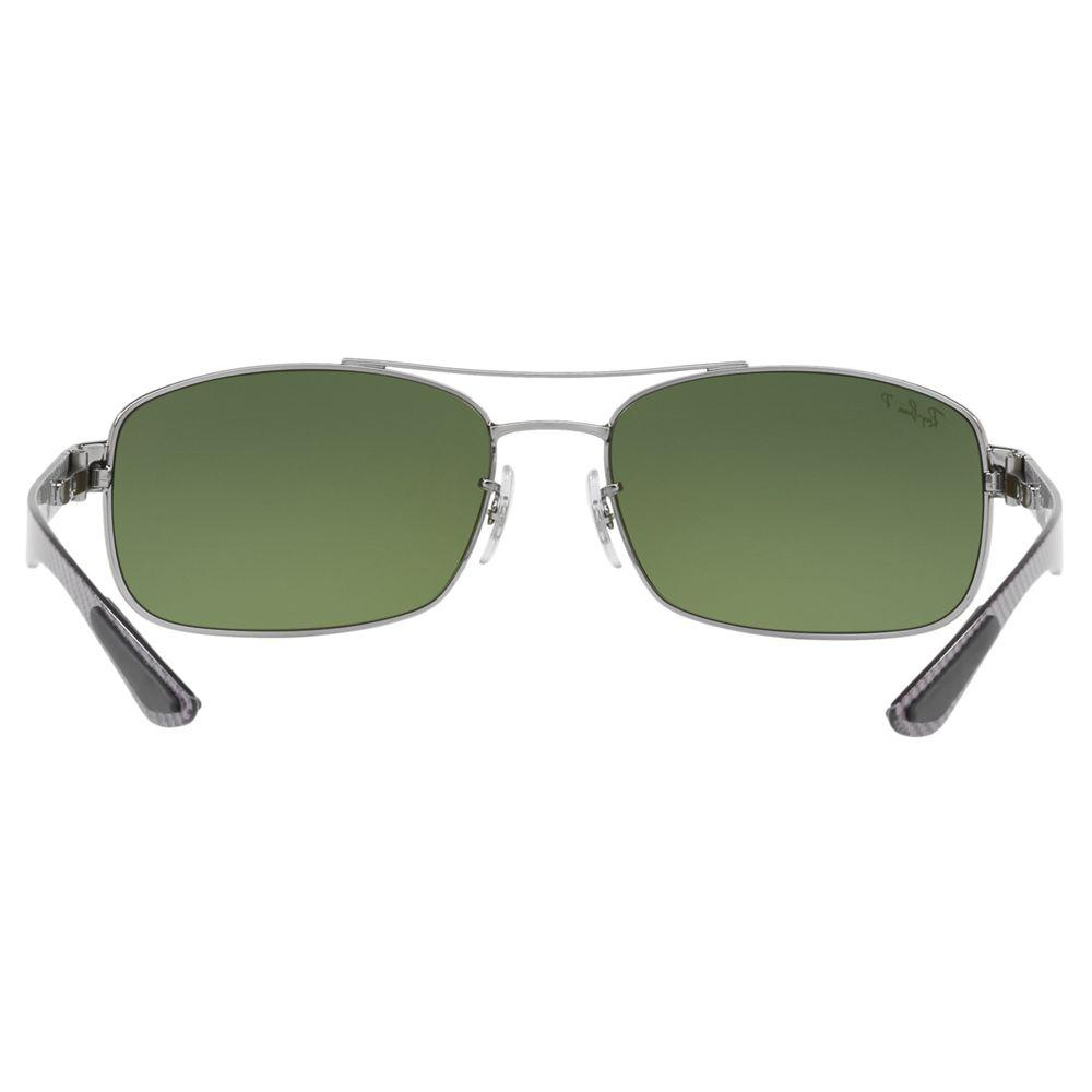 Ray-Ban Rb8318ch Polarised Rectangular Sunglasses in Green for Men