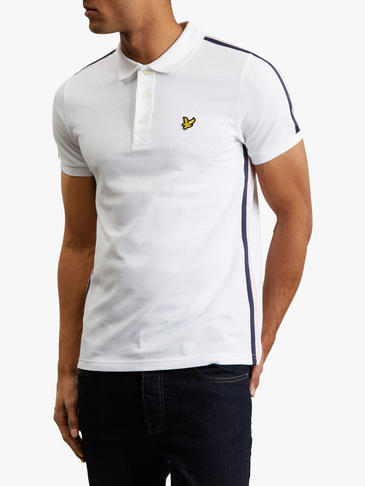 37bdaec45 Lyle   Scott Short Sleeve Side Stripe Polo Shirt in White for Men - Lyst