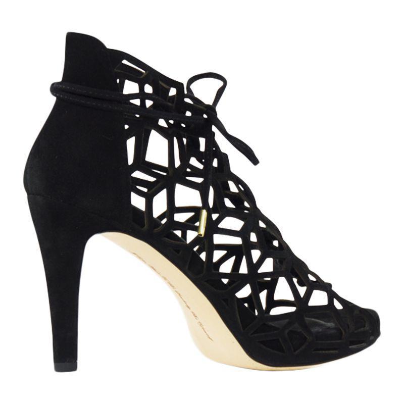 5626ae1a2cc1 Sargossa Fairytale Lace Up Stiletto Heel Sandals in Black - Lyst