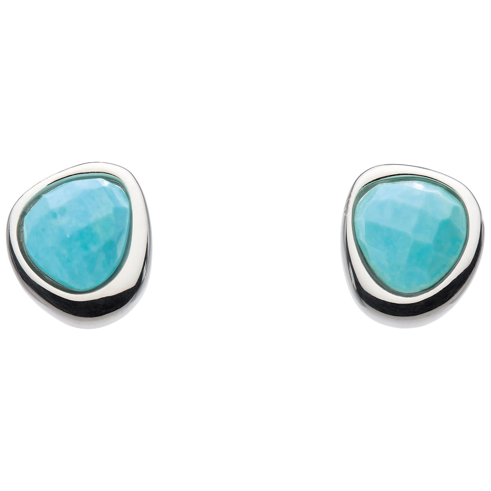 Kit Heath Coast Pebble Hammered Stud Earrings IevxFu2wbd