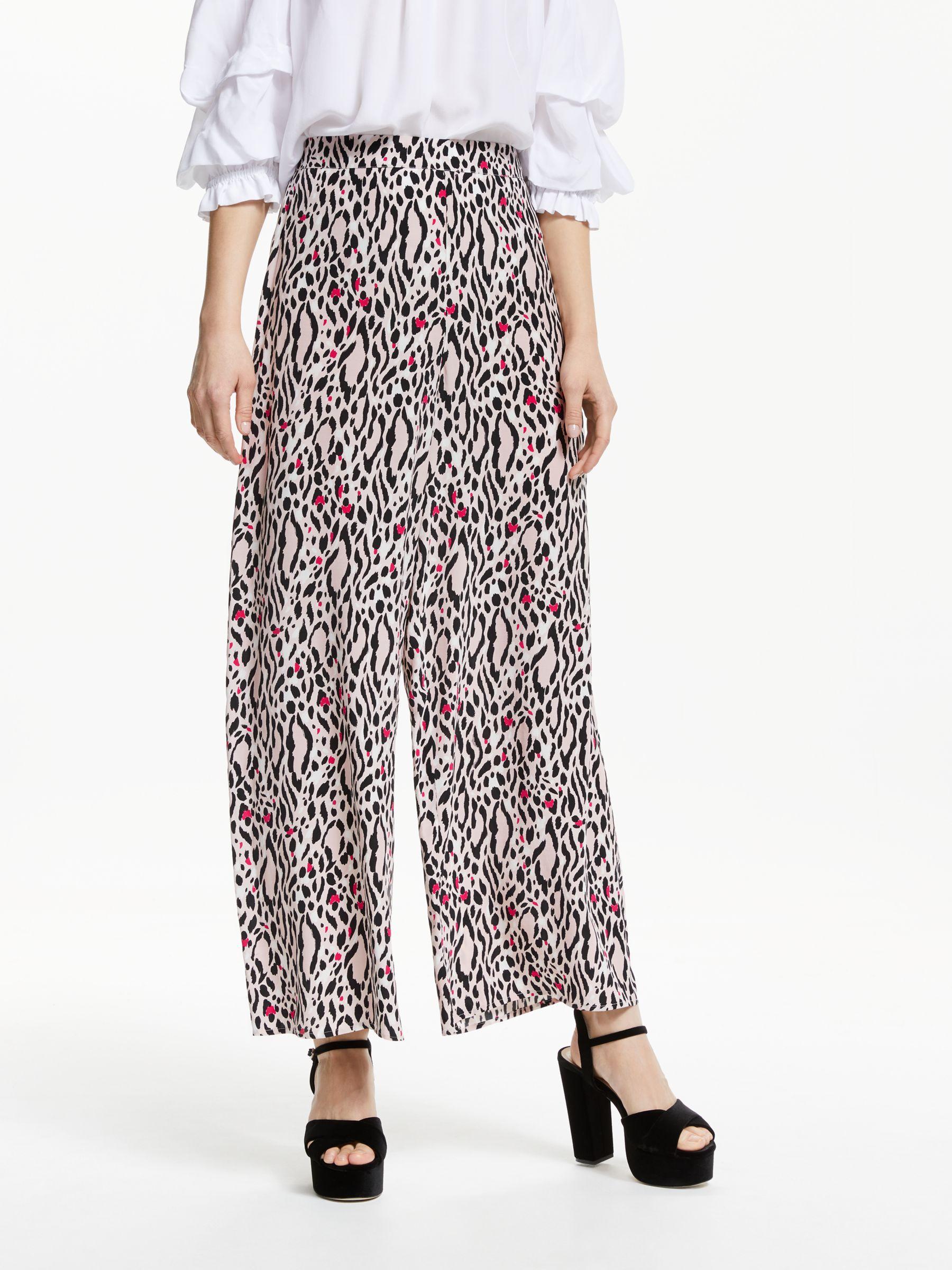 3065d6efc347 Somerset by Alice Temperley. Women's Leopard Print Wide Leg Trousers
