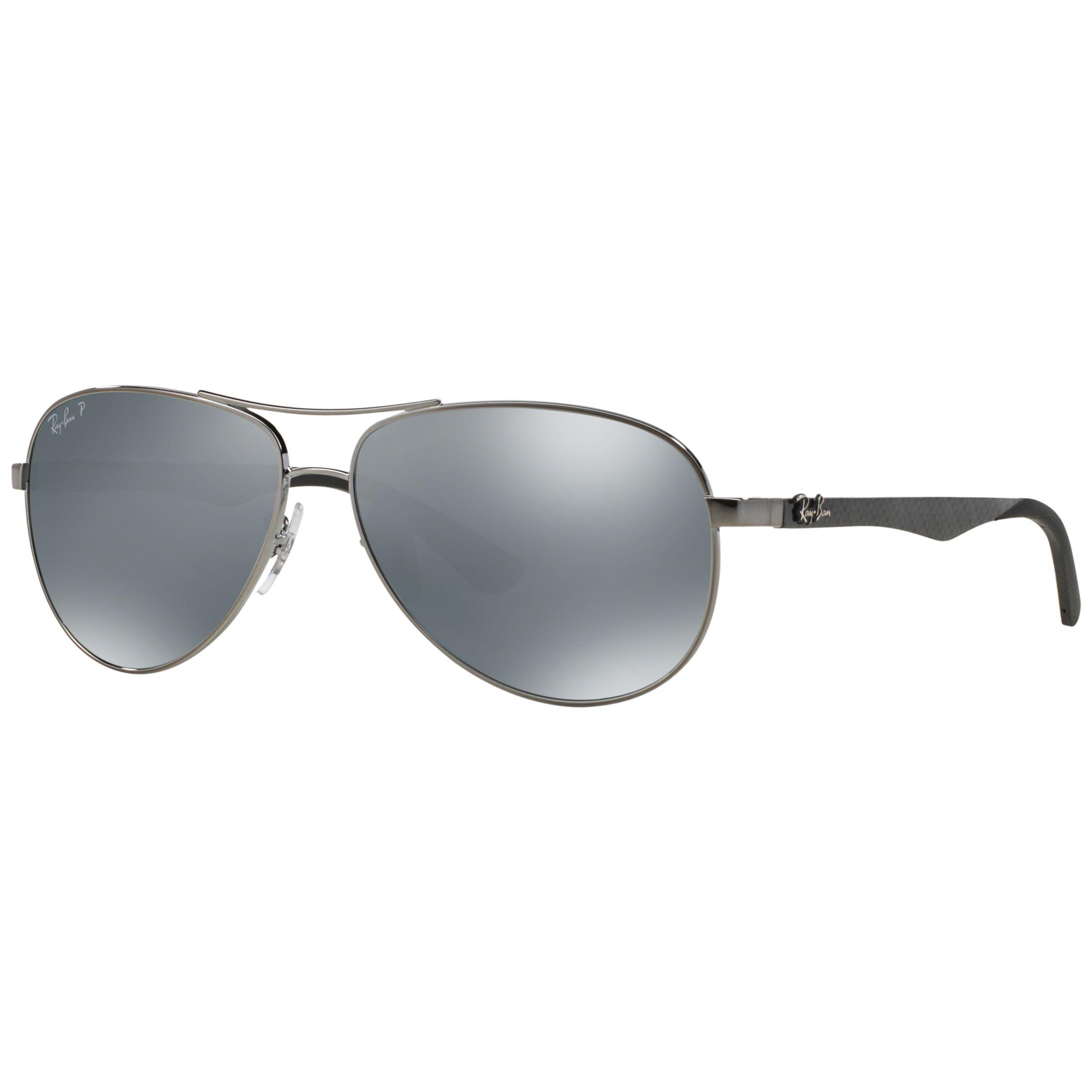 b3f298bdc7 Ray-Ban Rb8313 Polarised Pilot Sunglasses in Metallic for Men - Lyst