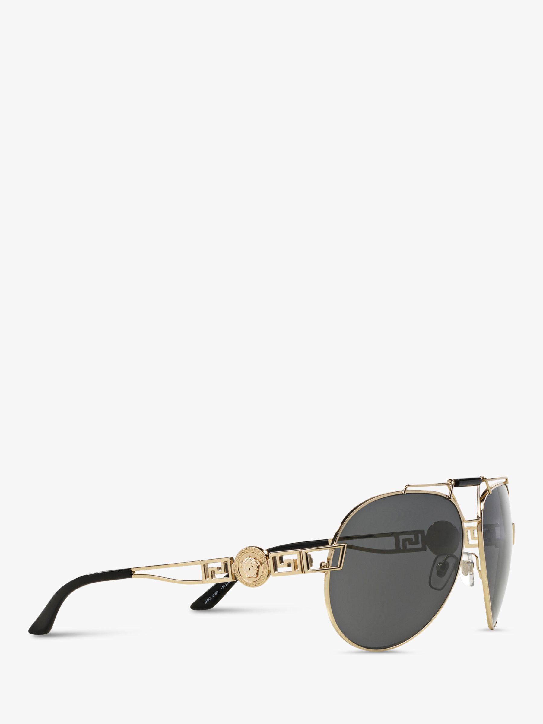 992f72686e910 Versace Ve2160 Women s Aviator Sunglasses in Gray - Lyst