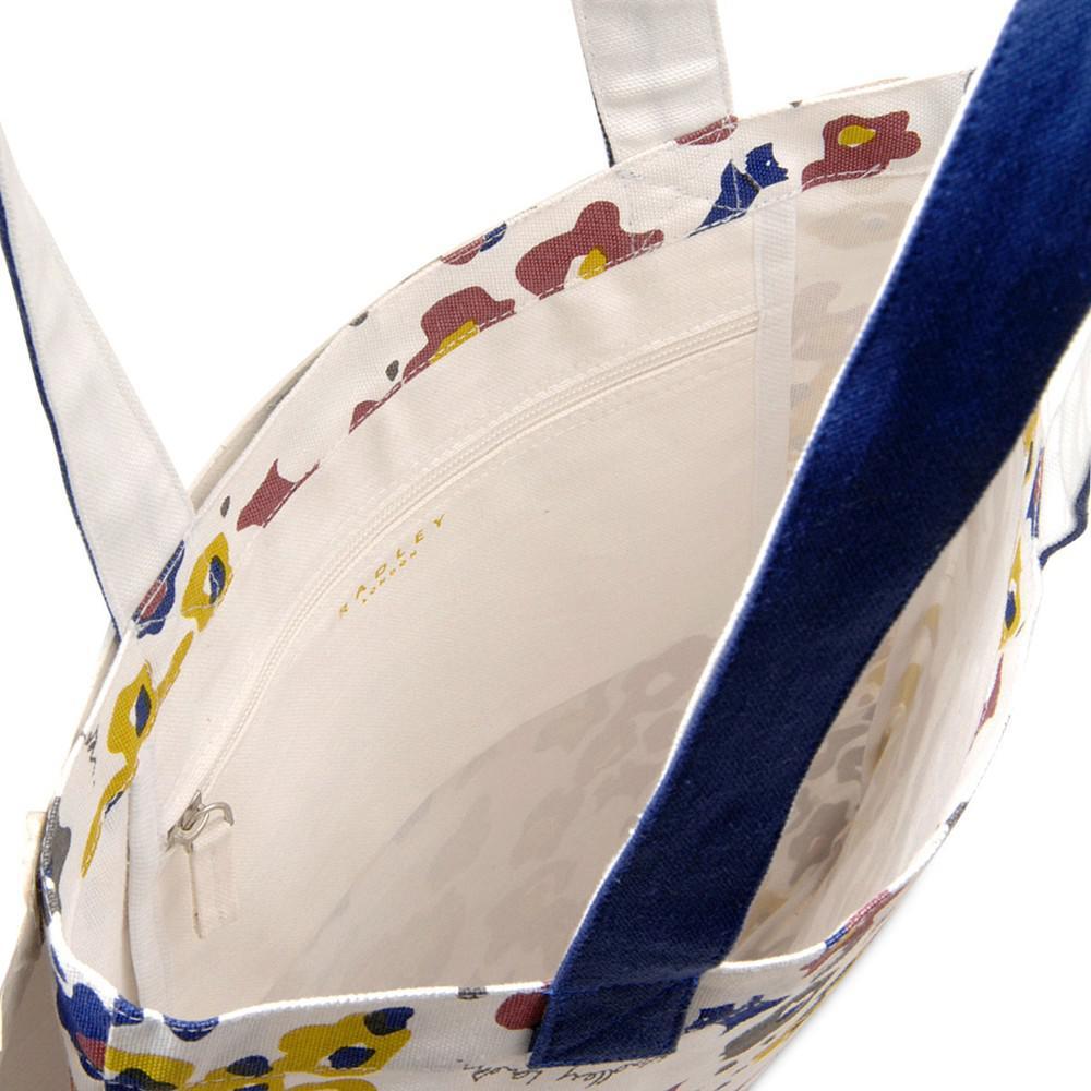 Radley Roar Cotton Medium Tote Bag in Natural