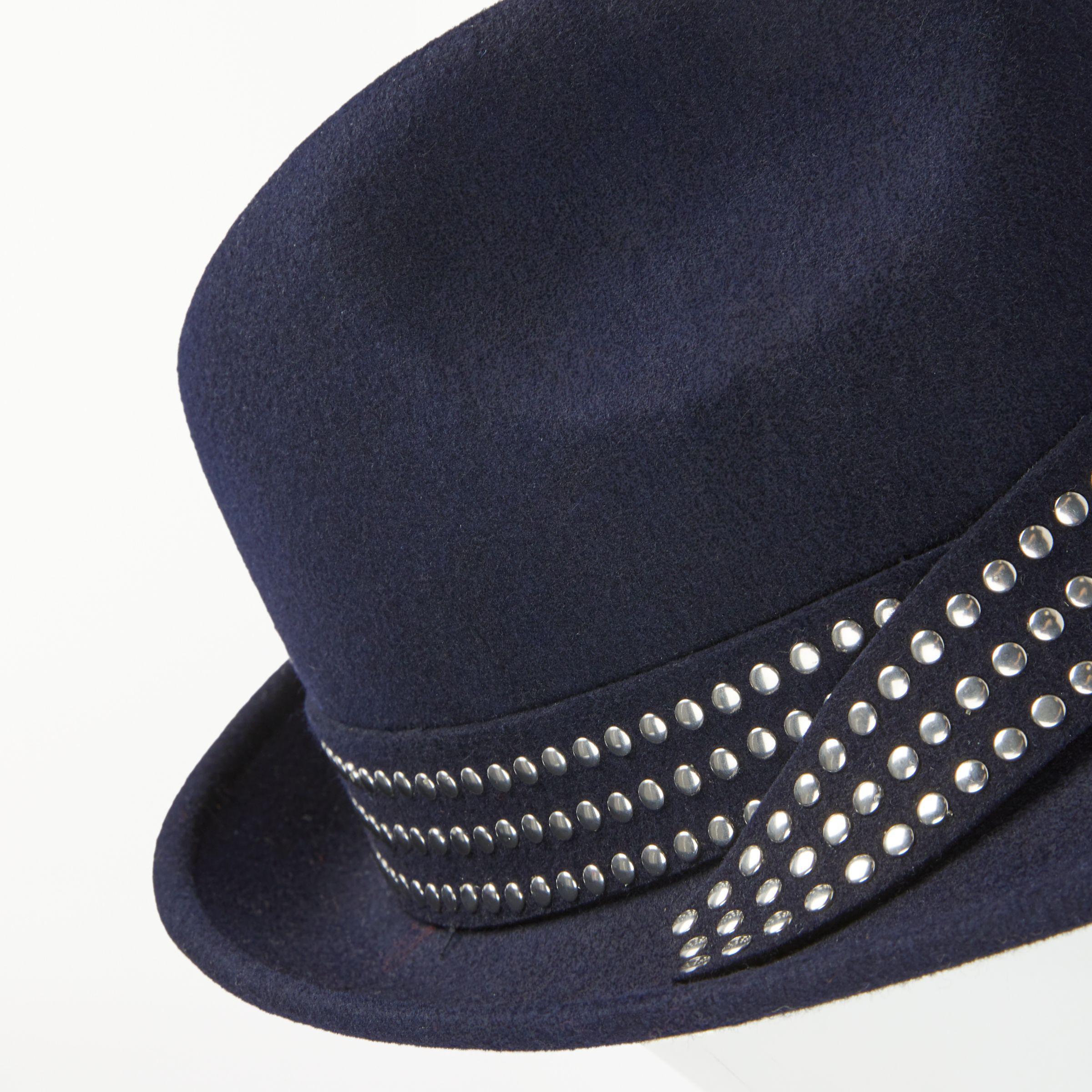 891c7eeefd3 John Lewis Stud Trim Woollen Trilby Hat in Blue - Lyst