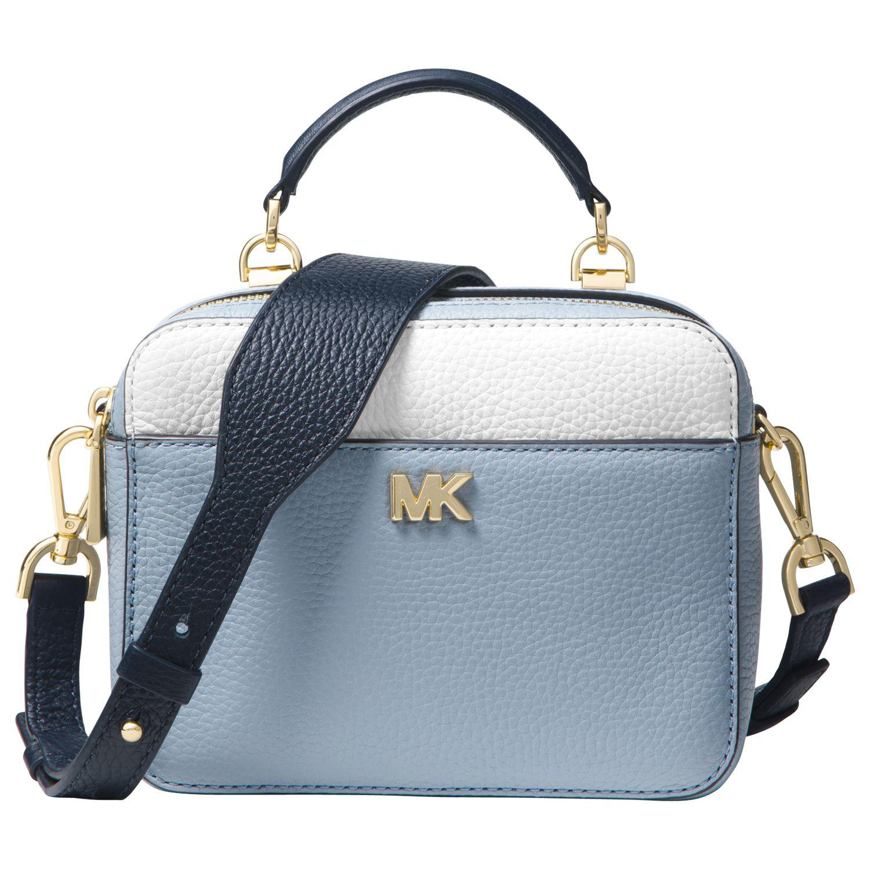 f69147c6b4a4 Michael Kors Michael Guitar Strap Leather Cross Body Bag in Blue - Lyst