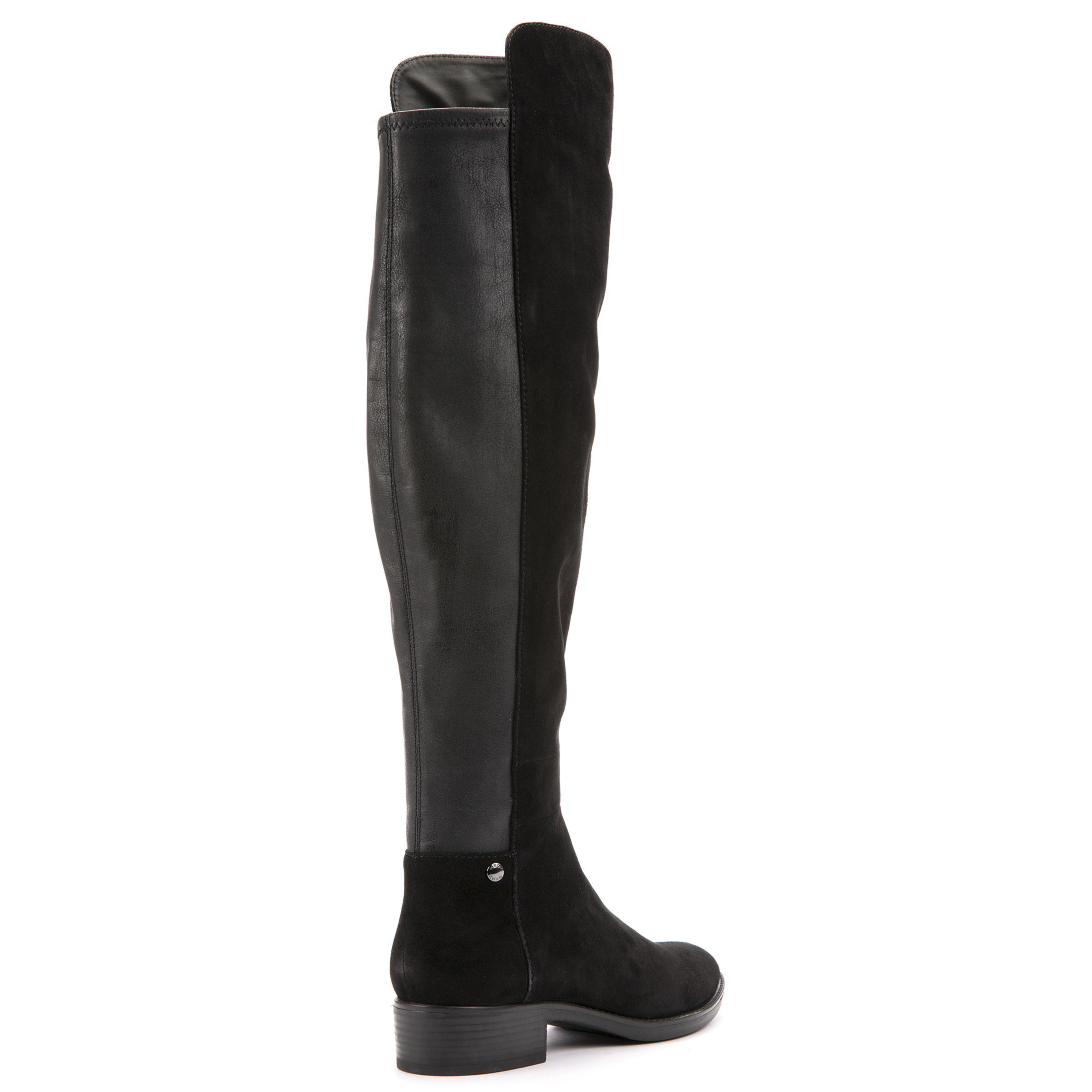 f8aba4d684 John Lewis Geox Felicity J Block Heeled Over The Knee Boots in Black ...