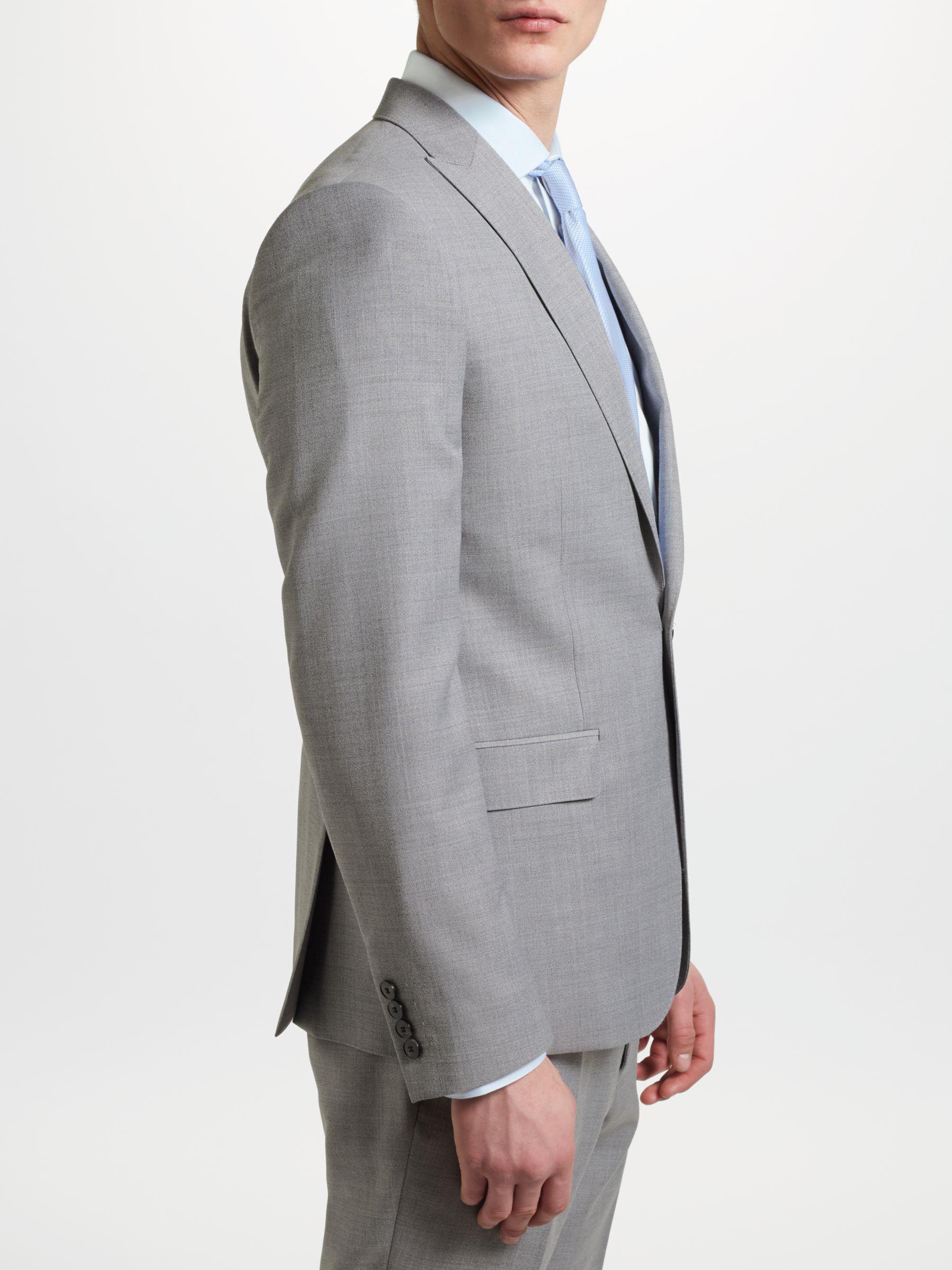 John Lewis Wool Kin By Crepe Slim Fit Suit Jacket in Light Grey (Grey) for Men