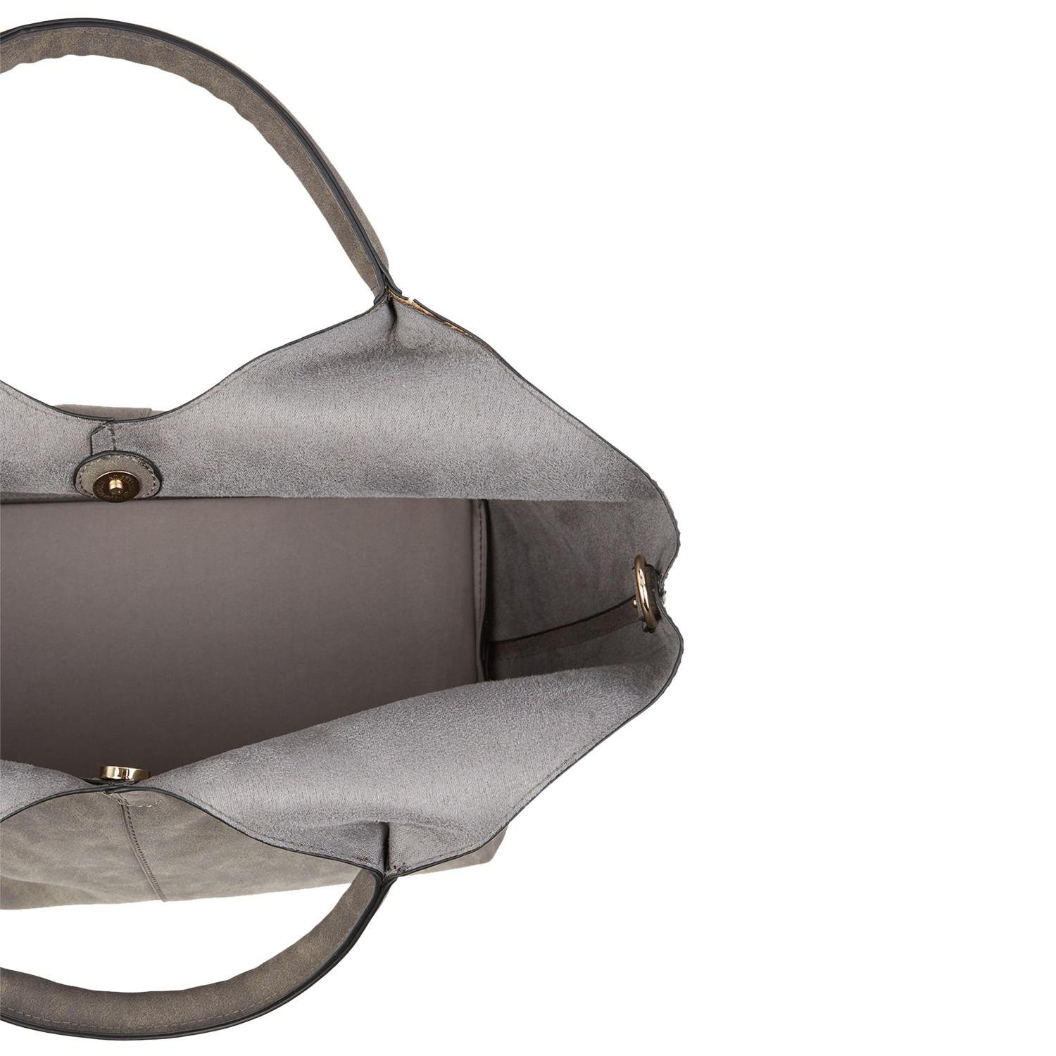 Oasis Synthetic Maddie Tote Bag in Mid Grey (Grey)