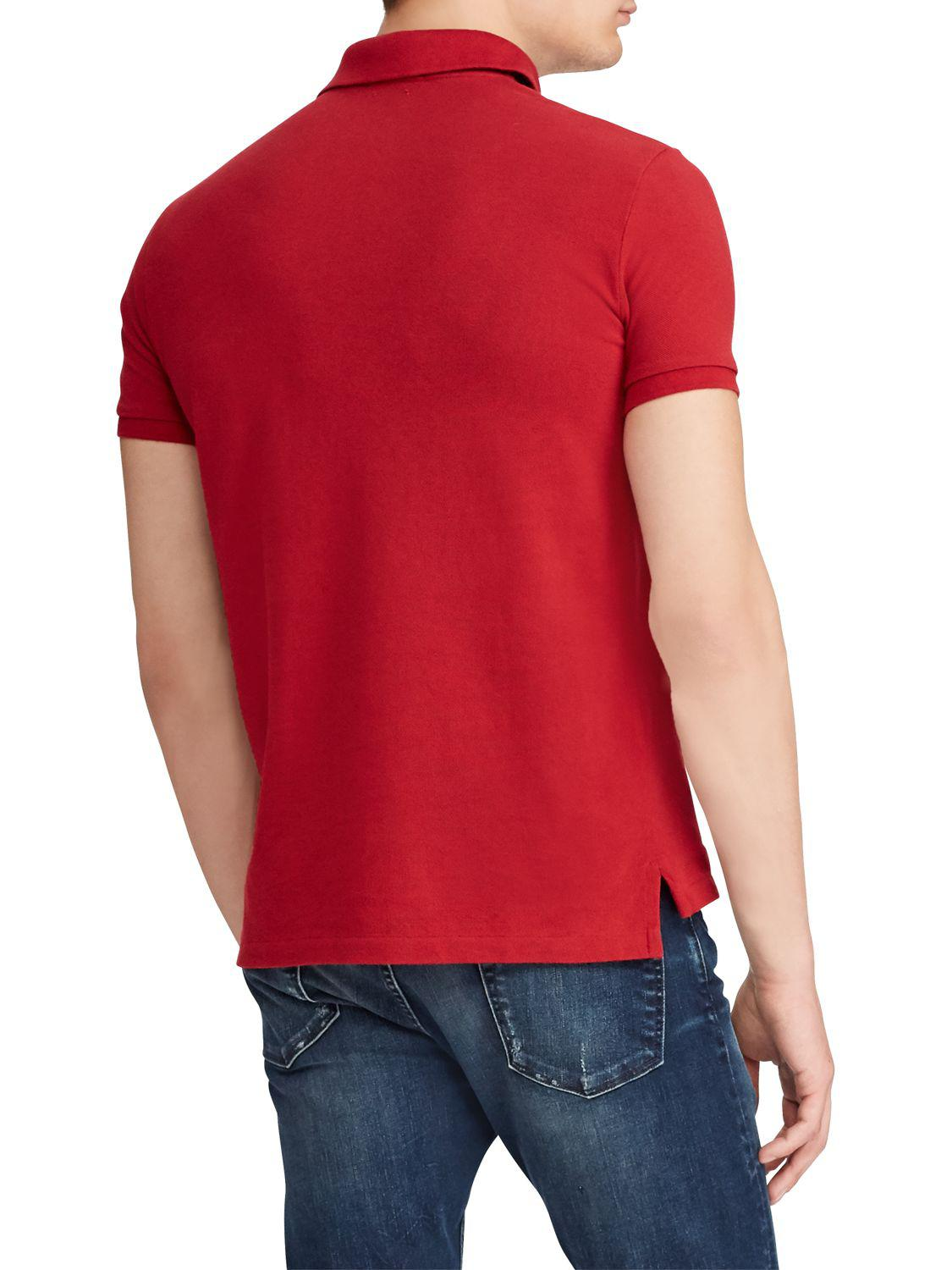 b82cf7004 Ralph Lauren. Men's Red Polo Slim Fit Stretch Mesh Polo Shirt. £52 From John  Lewis and Partners