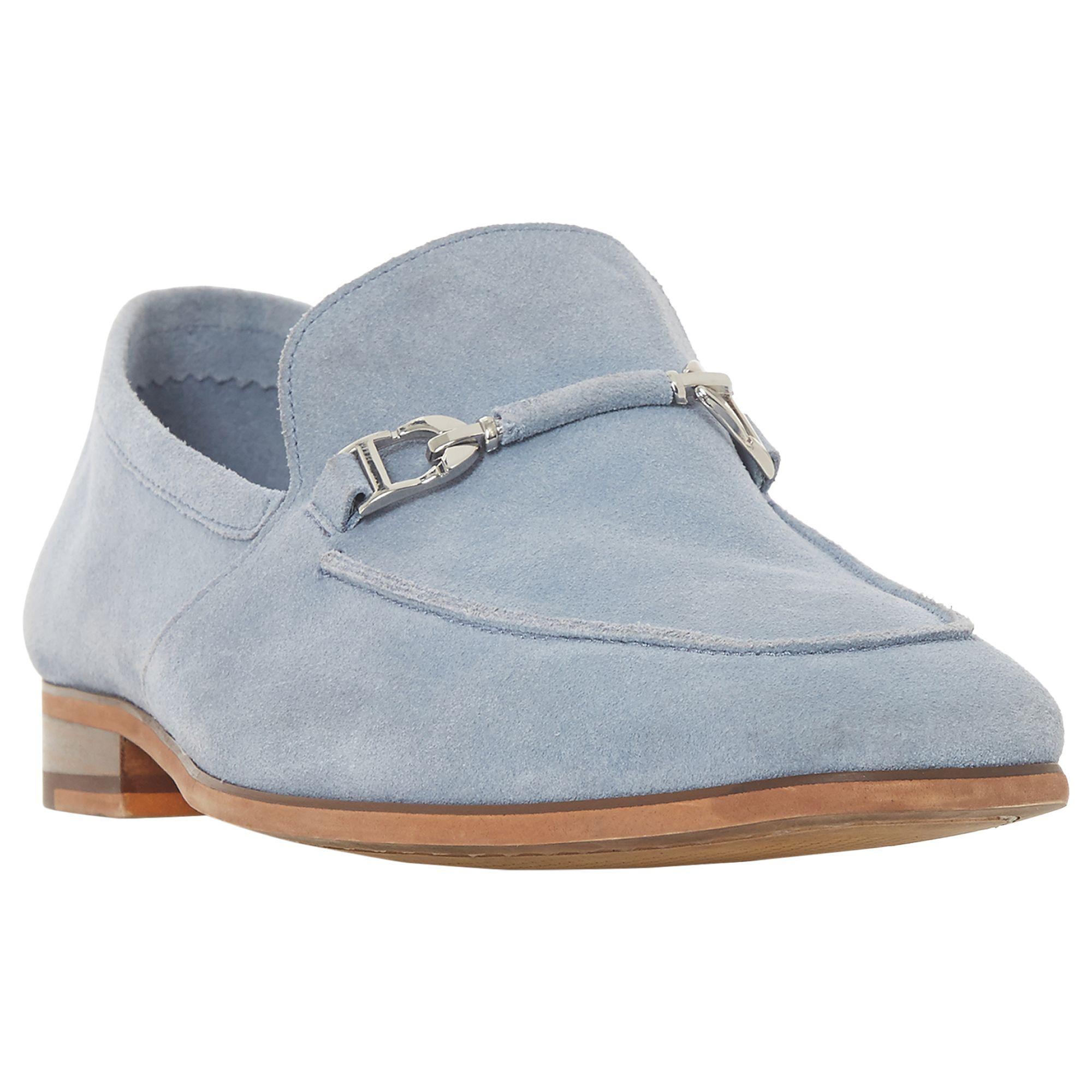 Dune Paulinho Suede Loafers in Light Blue (Blue) for Men