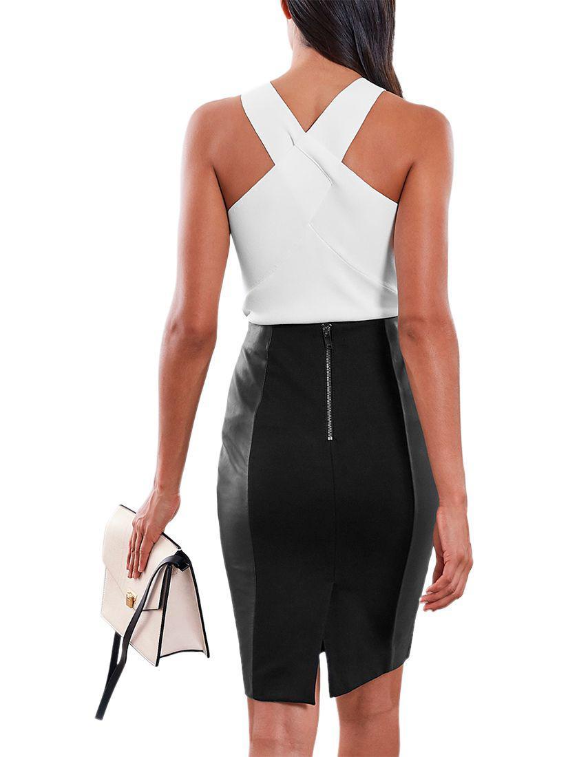 7f28979ddb Reiss Megan Leather Skirt in Black - Lyst