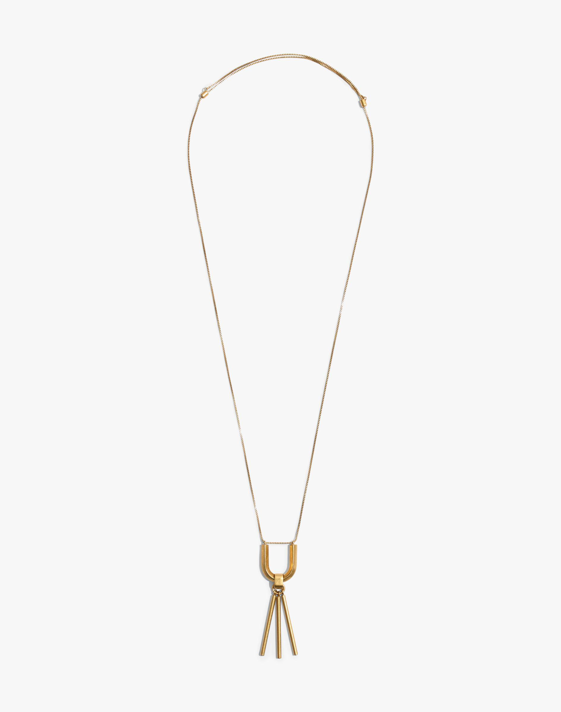 Madewell Curvelink Pendant Necklace in Gold (Metallic)