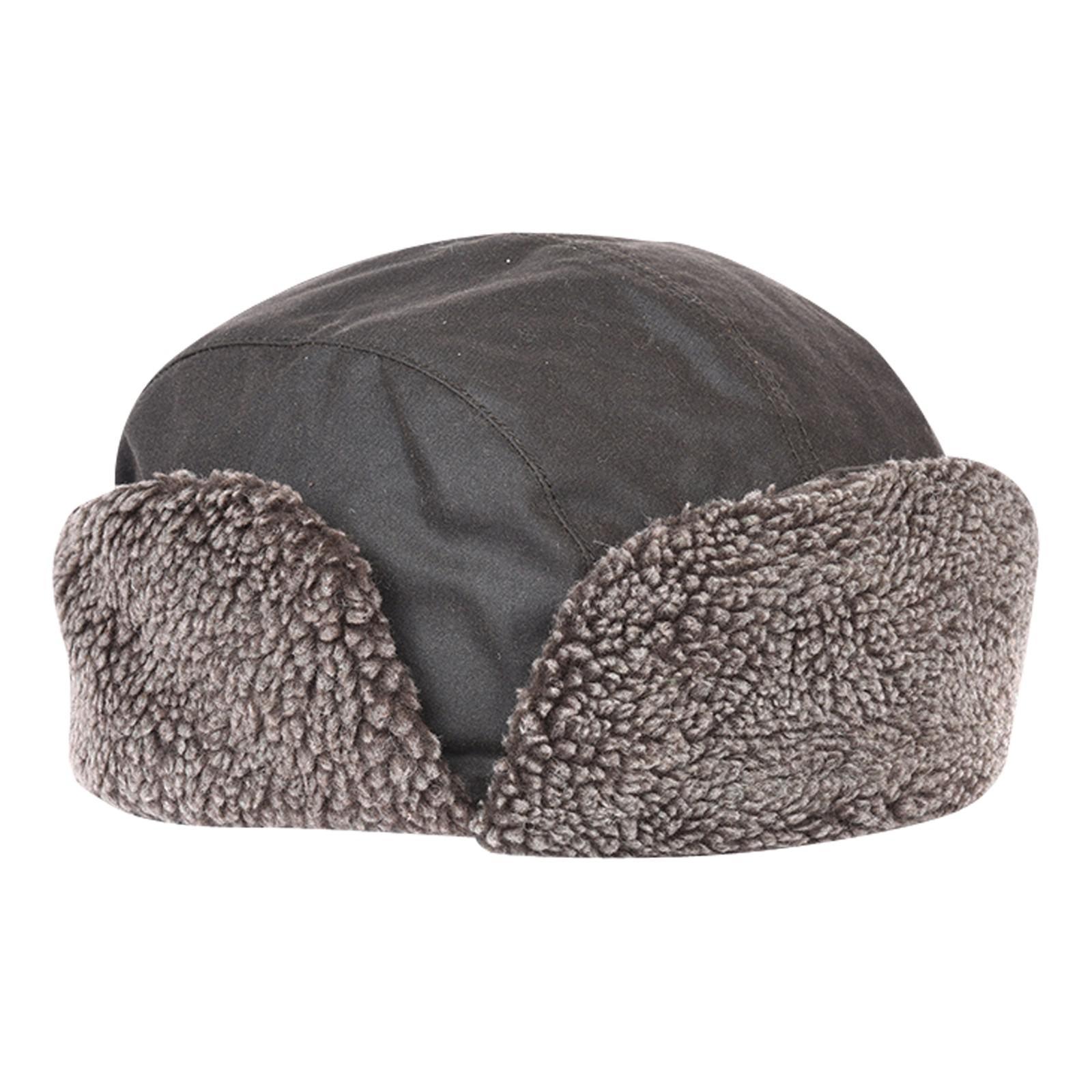 24706d1f7 Barbour Gray Wax Harton Trapper Hat for men