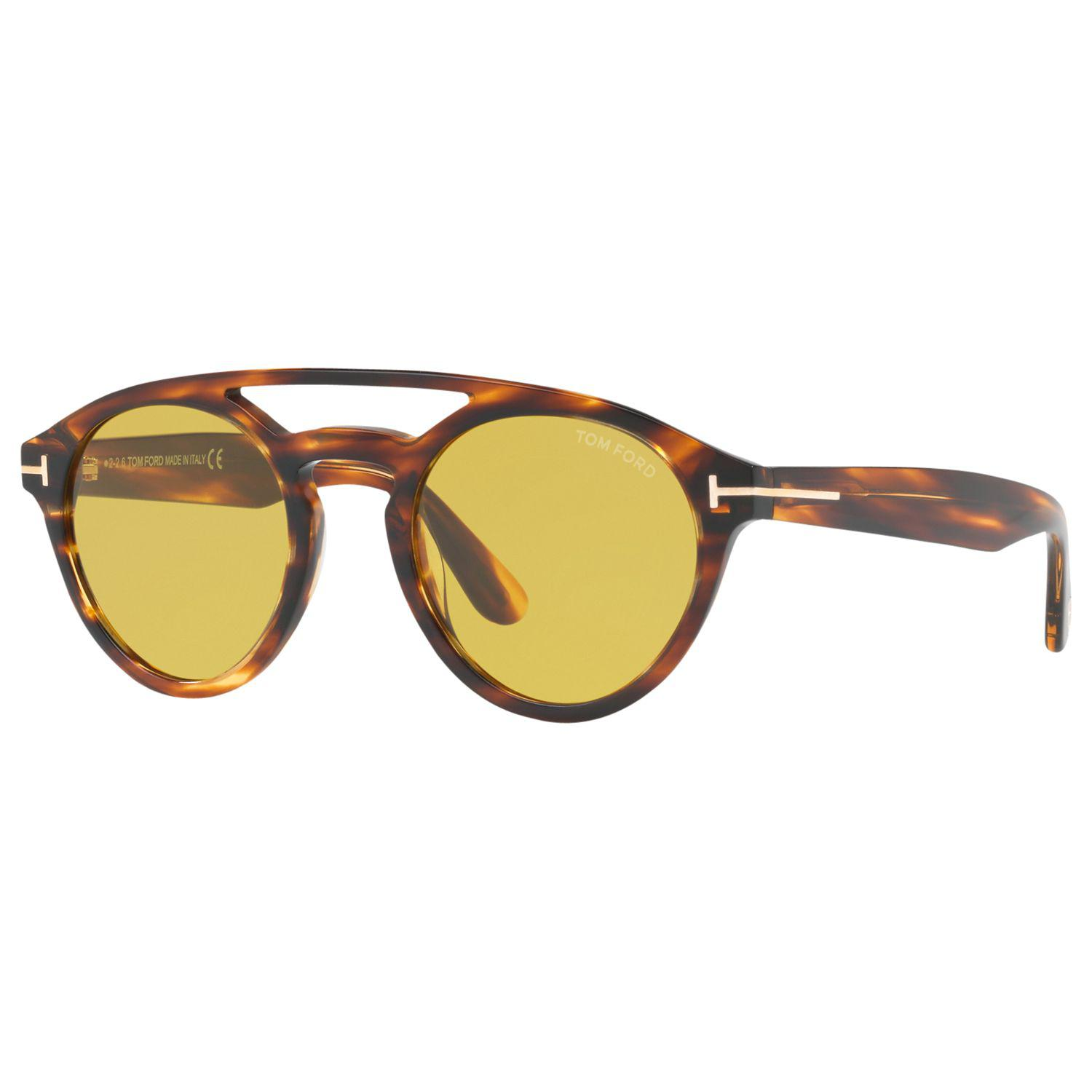52065885096 Tom Ford Ft0537 Clint Round Sunglasses in Brown for Men - Lyst