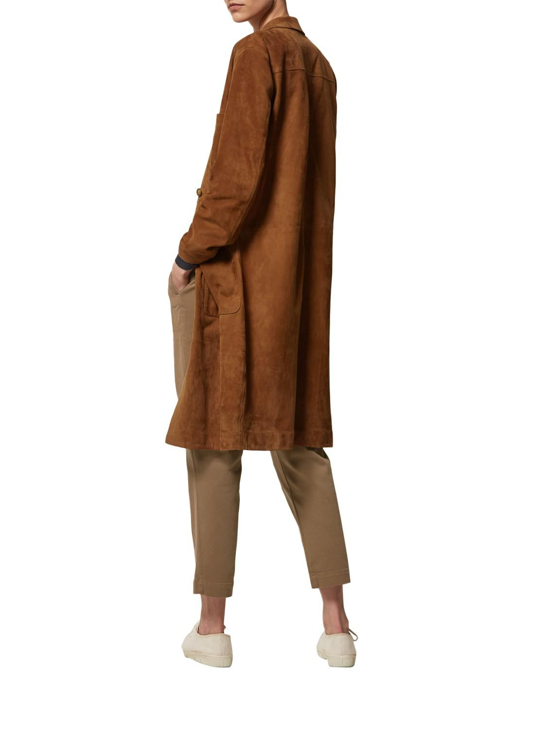 697879c8c83487 Toast Suede Leather Coat in Brown - Lyst