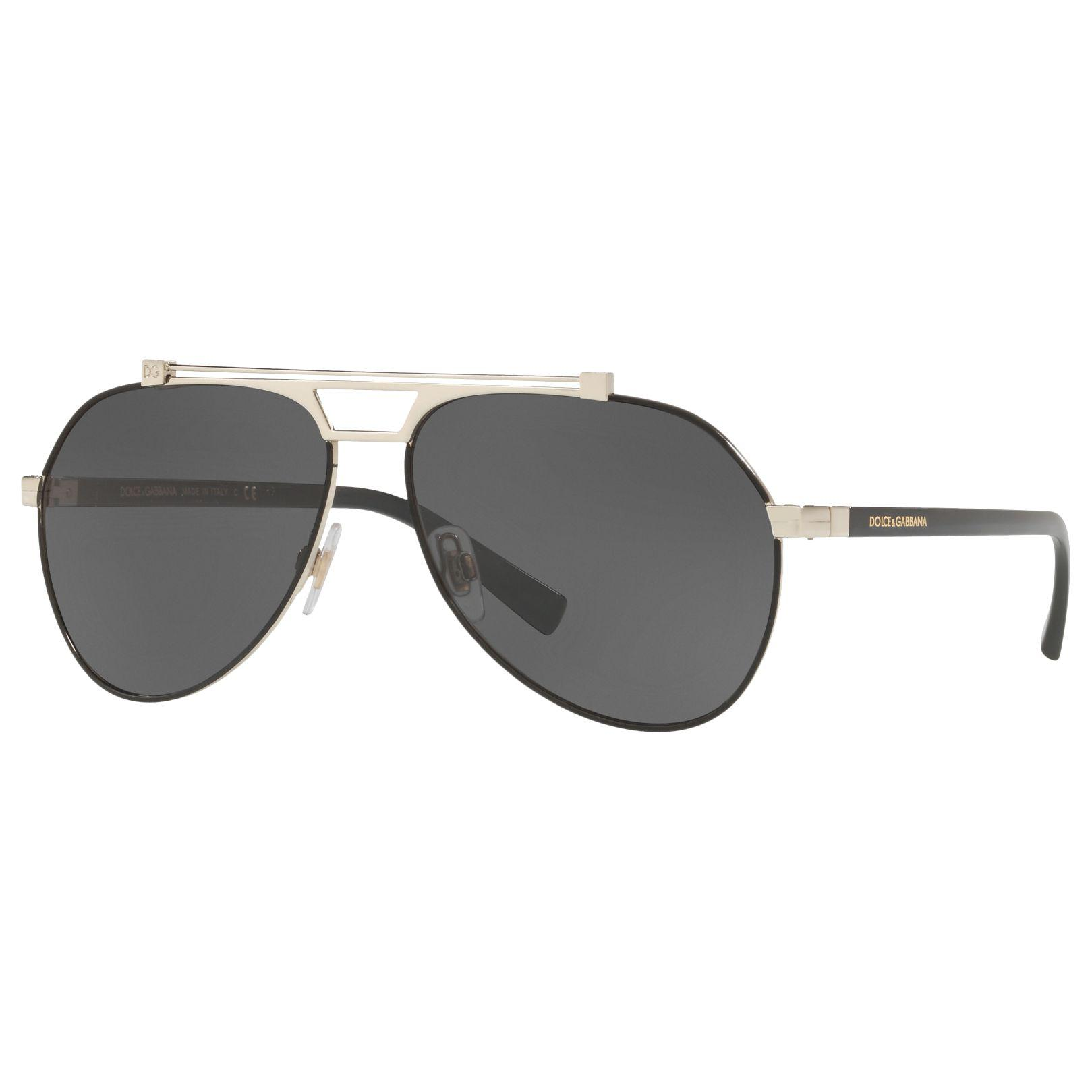 9332bd321b607 Dolce   Gabbana. Men s Gray Dg2189 Aviator Sunglasses. £232 From John Lewis  and Partners