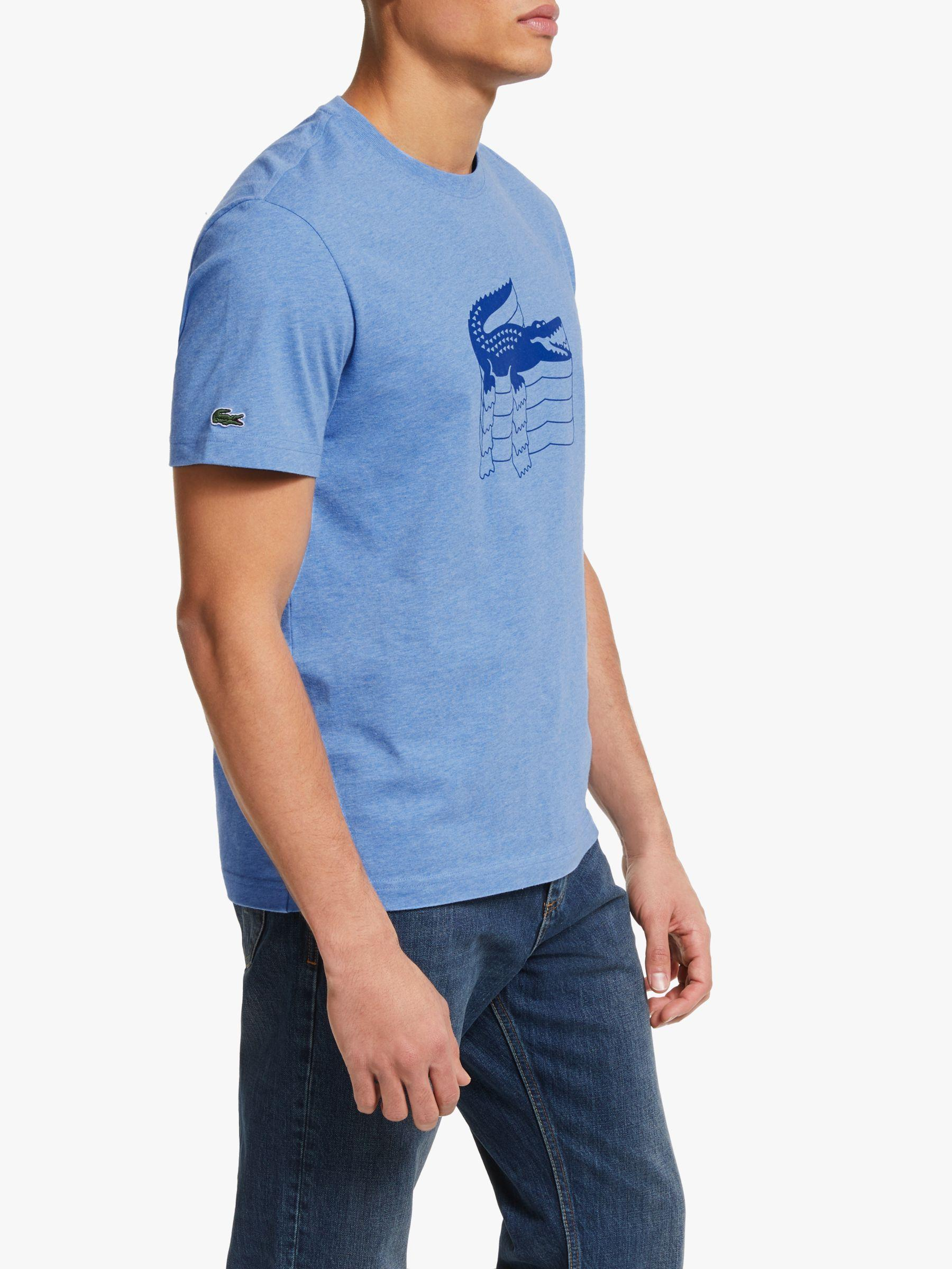 510fa3f2 Lacoste. Men's Blue Short Sleeve Logo T-shirt. £55 From John Lewis and  Partners