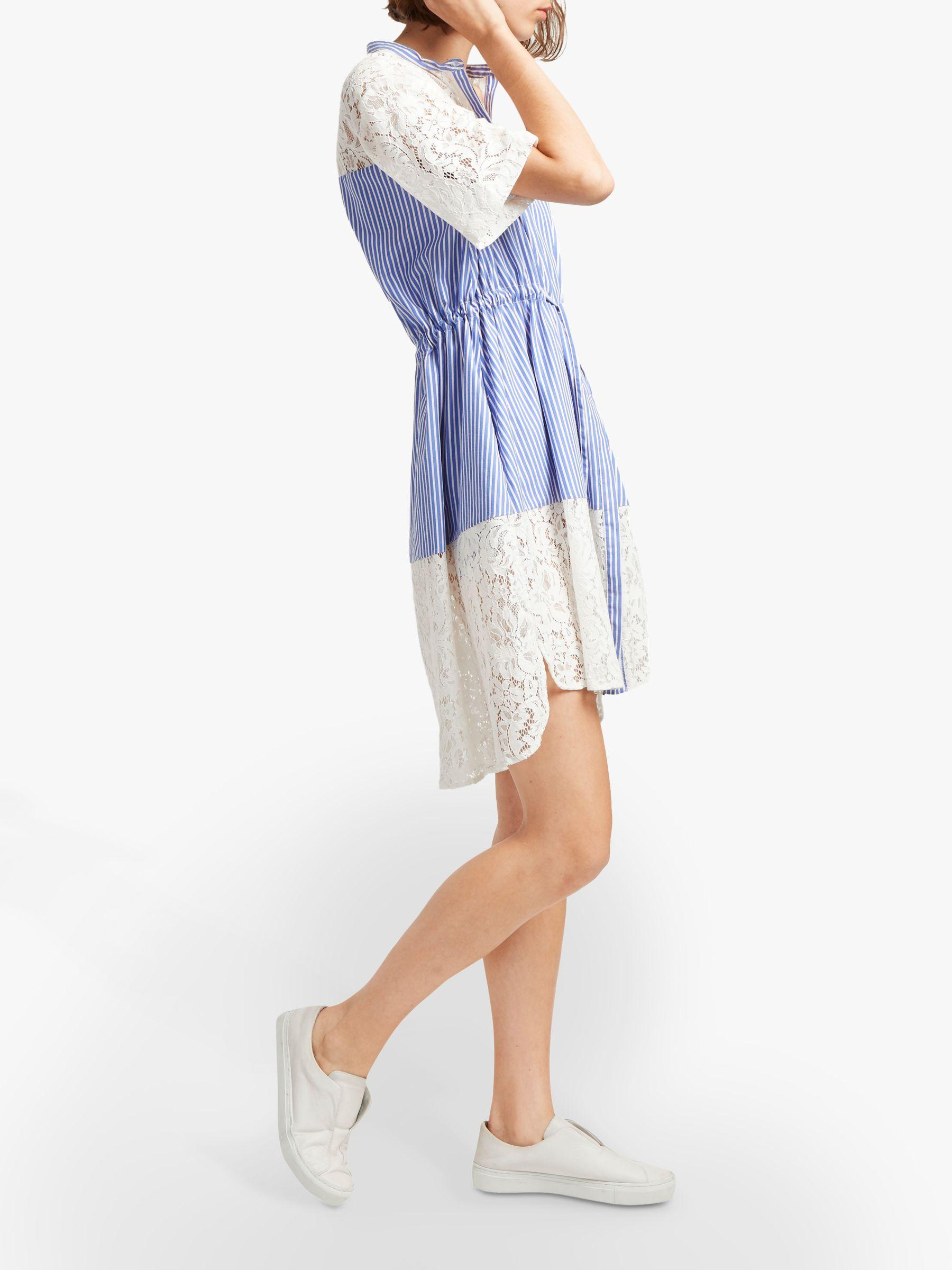 d63231eecd1 French Connection Adena Mix Shirt Dress in Blue - Lyst