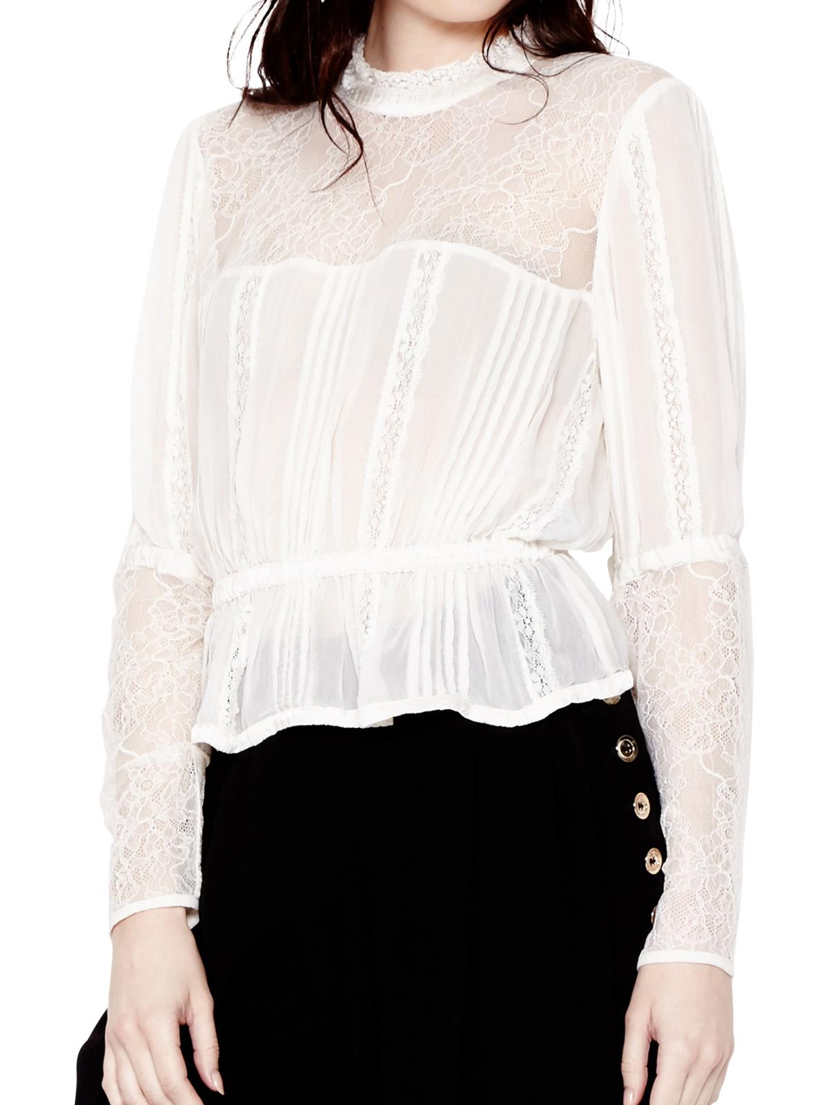 Ghost Lace Rosanne Georgette Blouse in Chalk White (White)