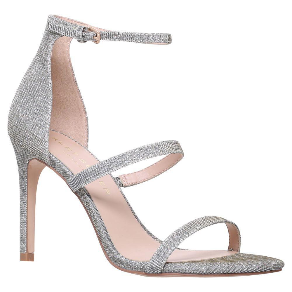 de936de4fe5 Kurt Geiger Park Lane Stiletto Heel Sandals in Metallic - Lyst