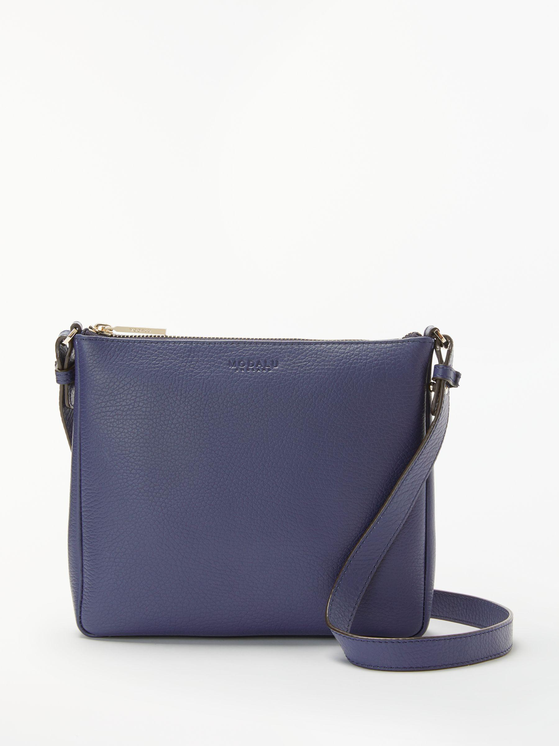 d5c6bf1c3288 Modalu Elsa Leather Cross Body Bag in Blue - Lyst