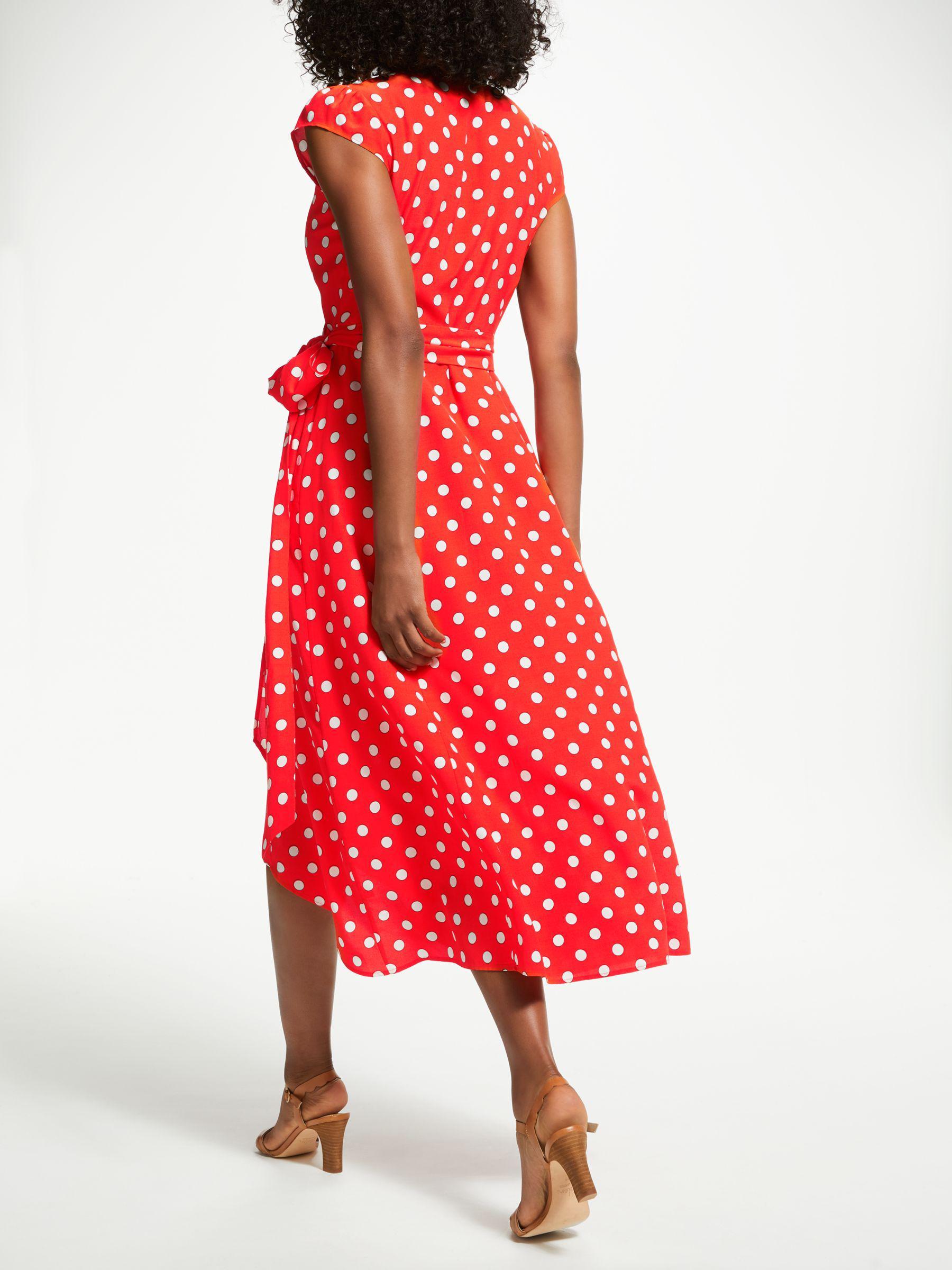 Boden Antonia Polka Dot Wrap Dress In Red Lyst
