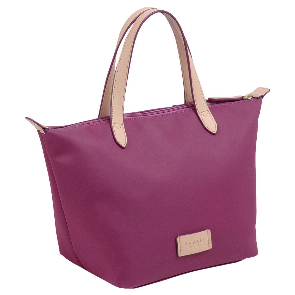 Radley Synthetic Pocket Essentials Fabric Small Crook Tote Bag in Magenta (Purple)