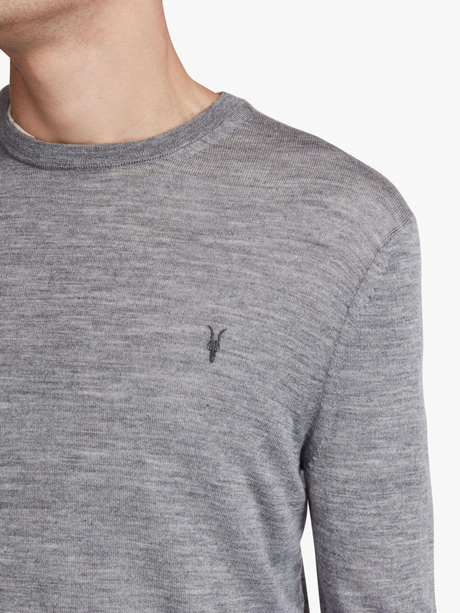 AllSaints Wool Mode Crew Jumper in Grey (Grey) for Men
