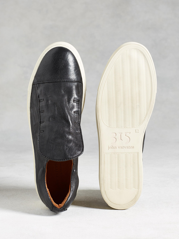 John Varvatos Leather Reed Laceless Low