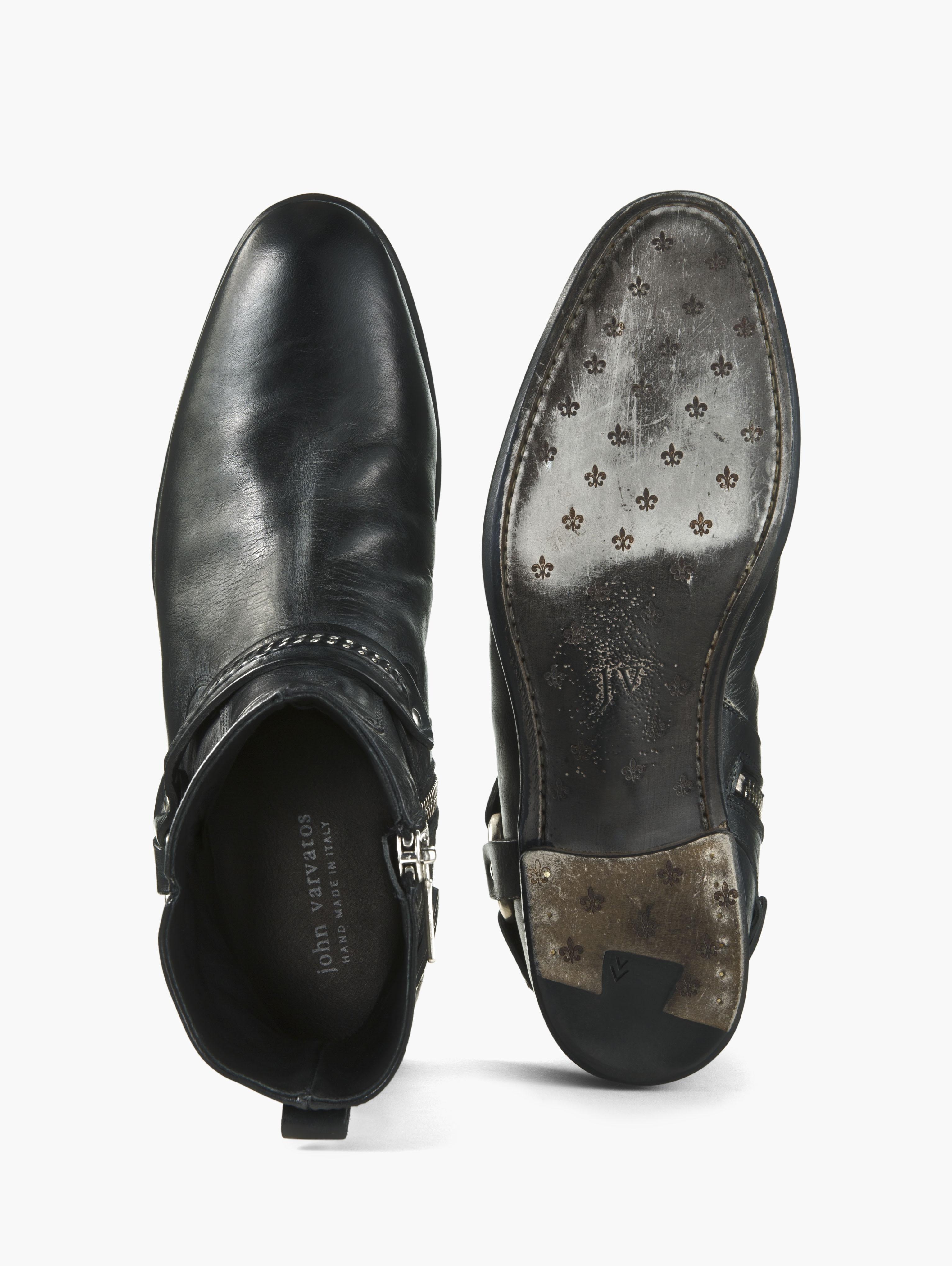 John Varvatos Eldridge Harness Boot In Black For Men Lyst