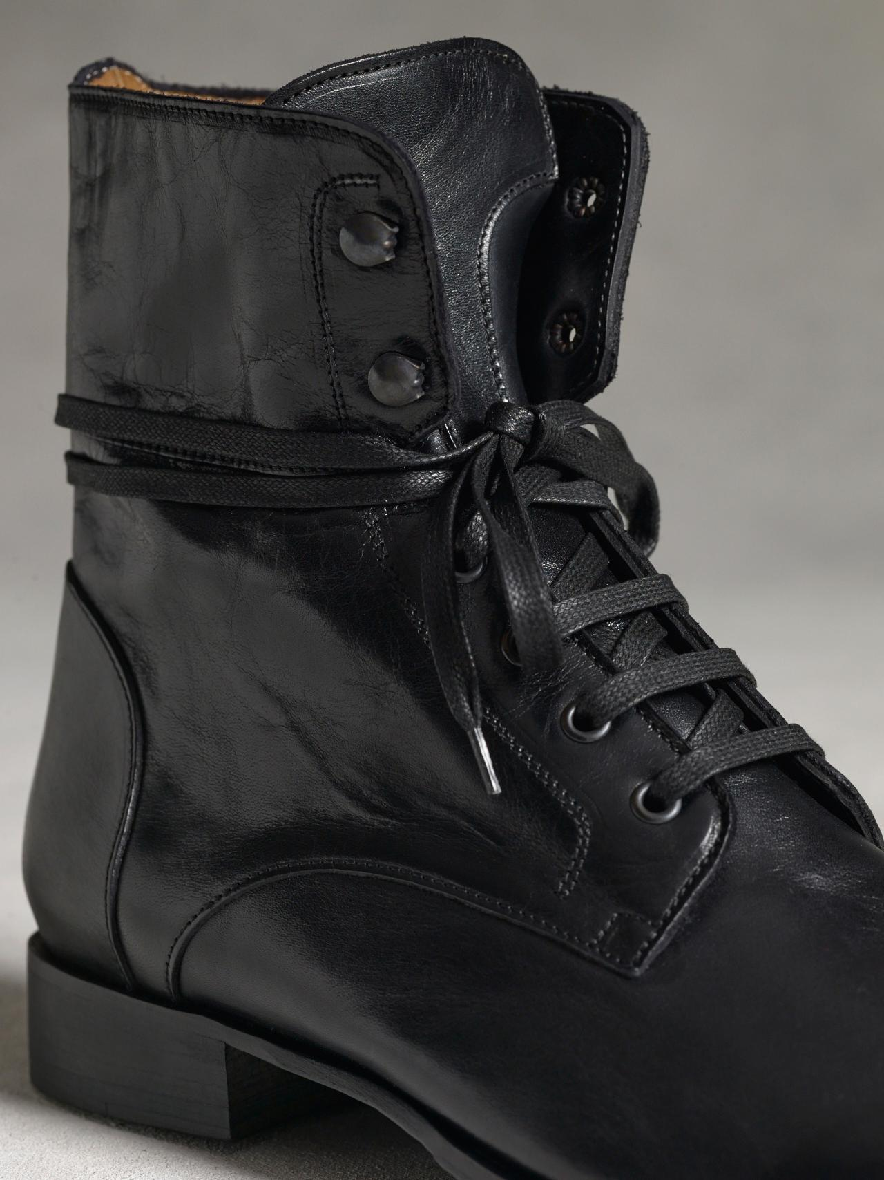 John Varvatos Six O Six Leather Boots In Black For Men Lyst