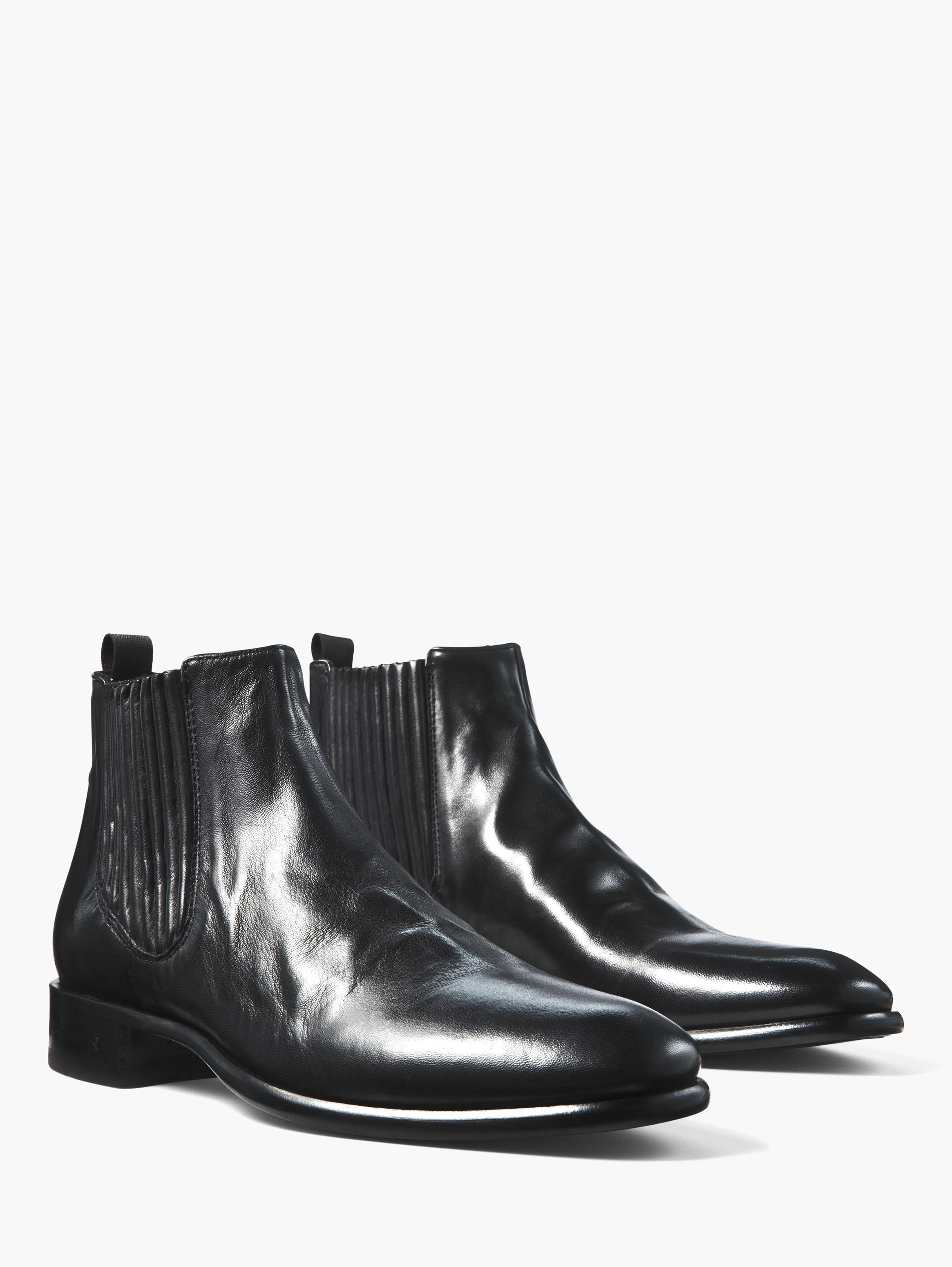 Lyst John Varvatos Leather Eldridge Chelsea In Black For Men