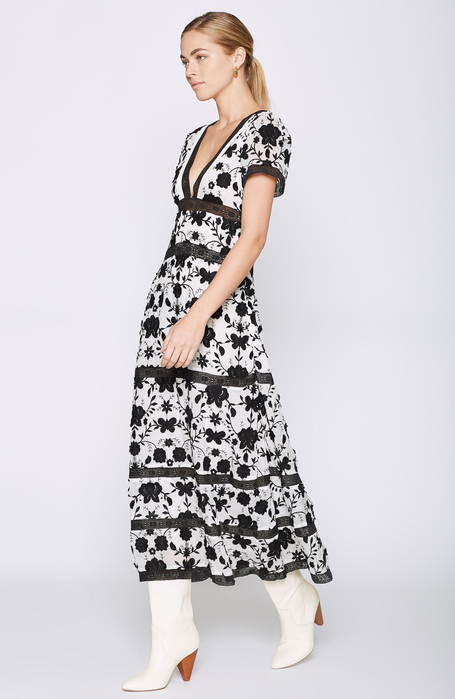 30bf703c51b Joie Fusca Maxi Dress in Black - Lyst