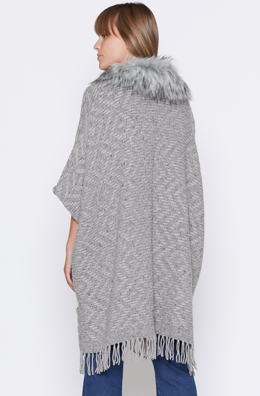 Joie Purnima Poncho Sweater in Dark Heather Grey (Grey)