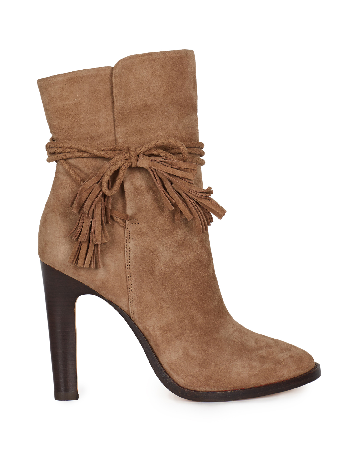 Joie Chap Suede Bootie in Brown