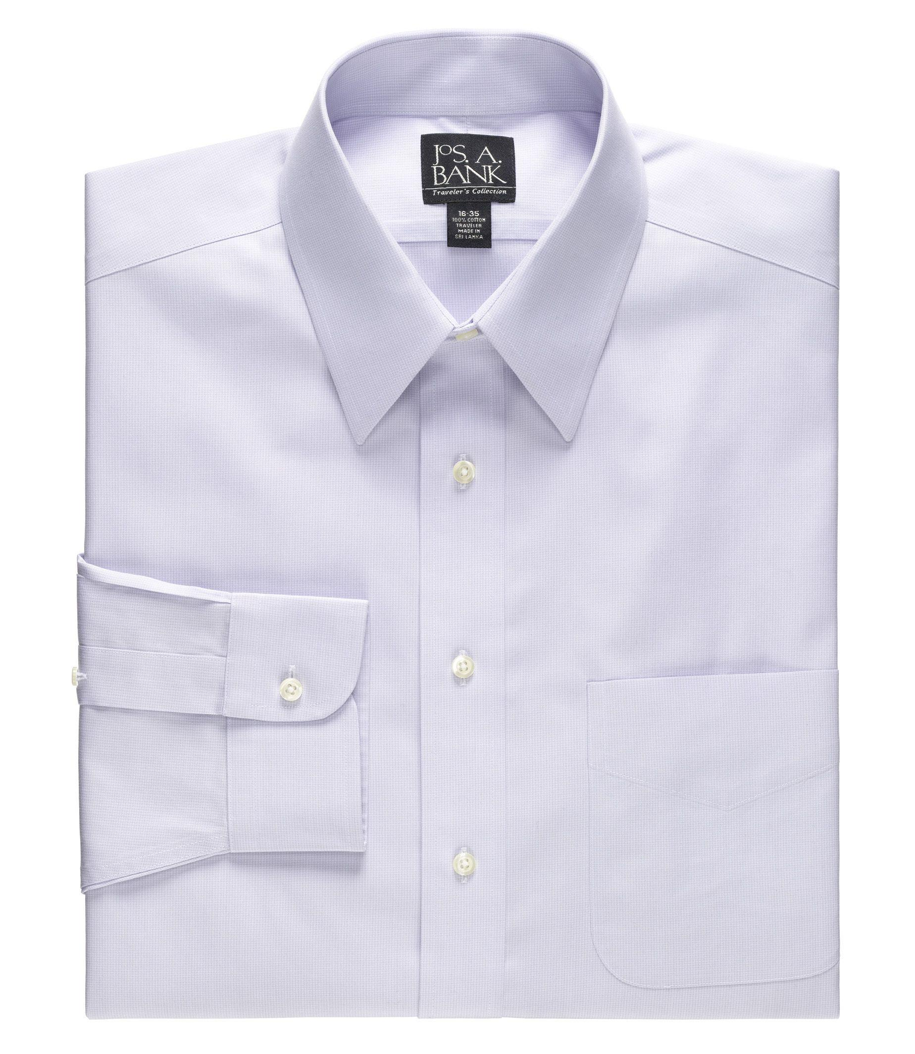 Lyst jos a bank traveller collection tailored fit for Tall collar dress shirts