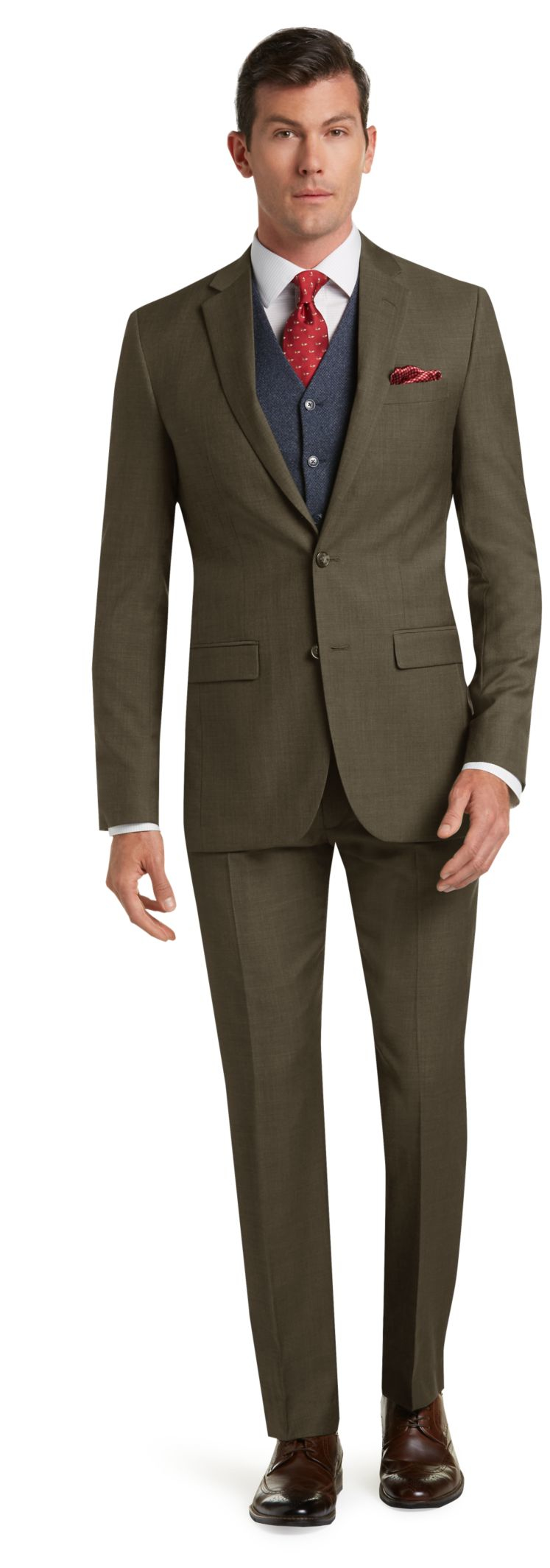 Jos a bank traveler 39 s collection tailored fit suit in for Jos a bank tailored fit vs slim fit shirts
