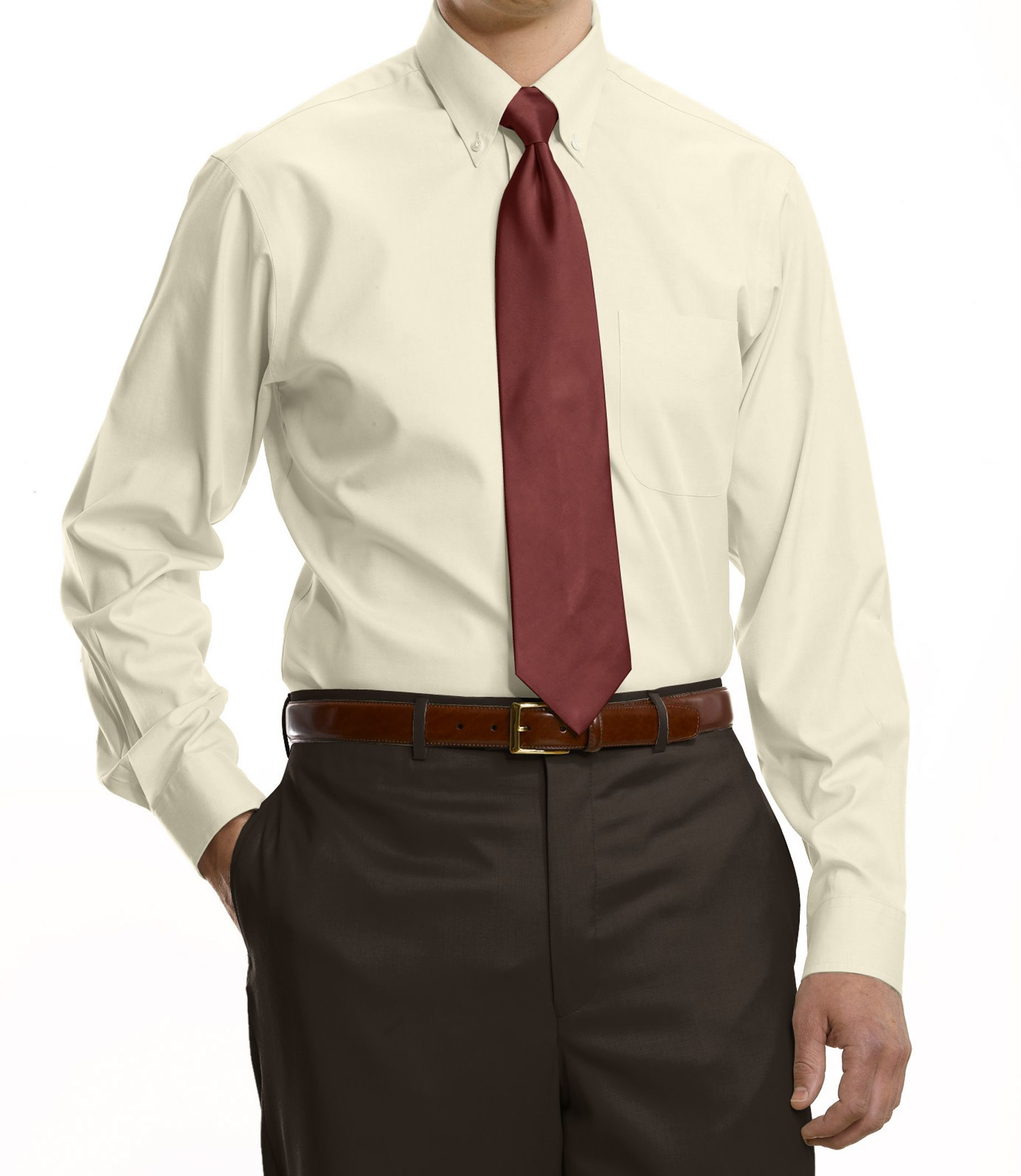 Jos a bank traveler collection tailored fit button down for Dress shirts for tall men