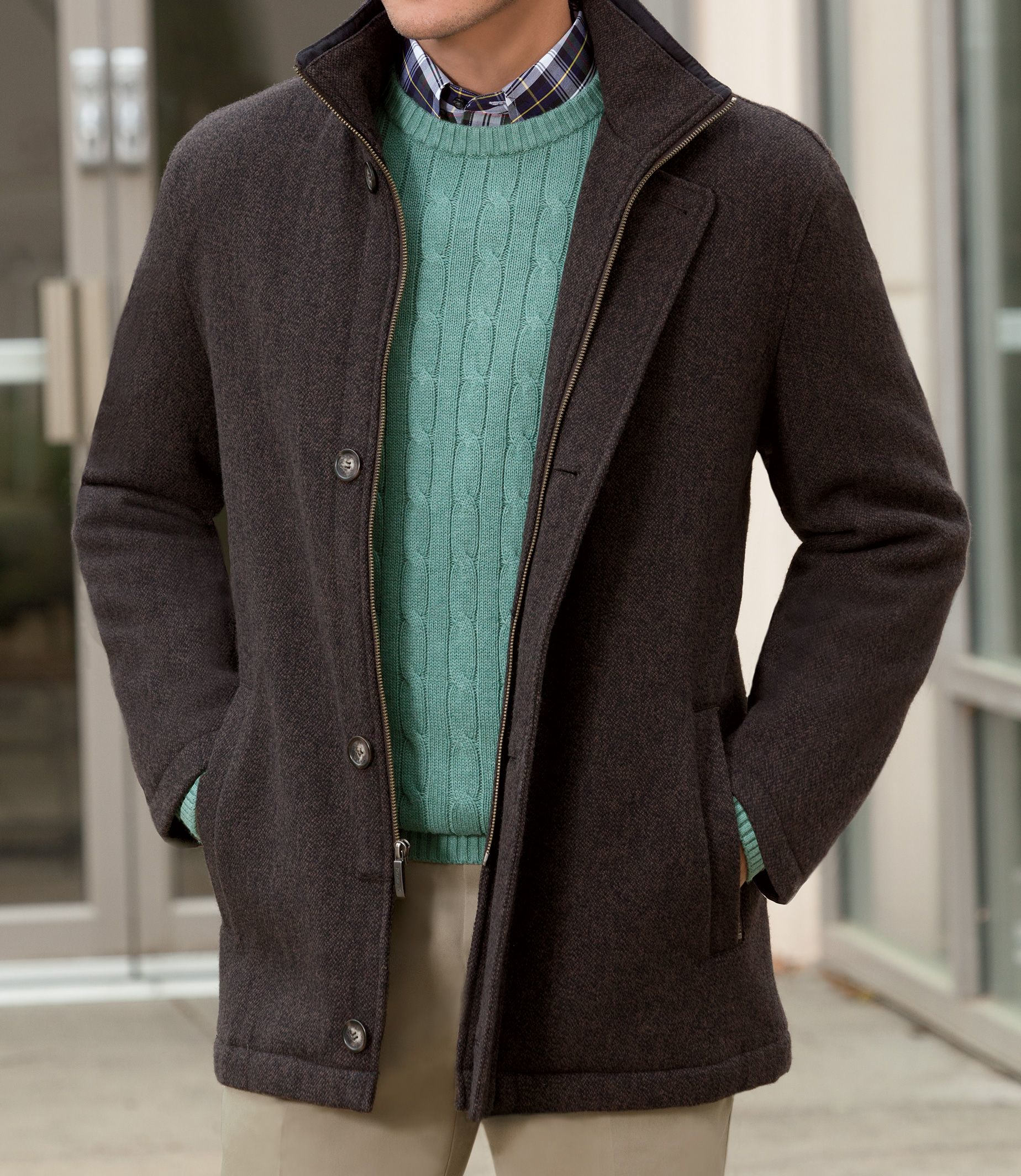 Lyst Jos A Bank Traditional Fit Heathered Coat
