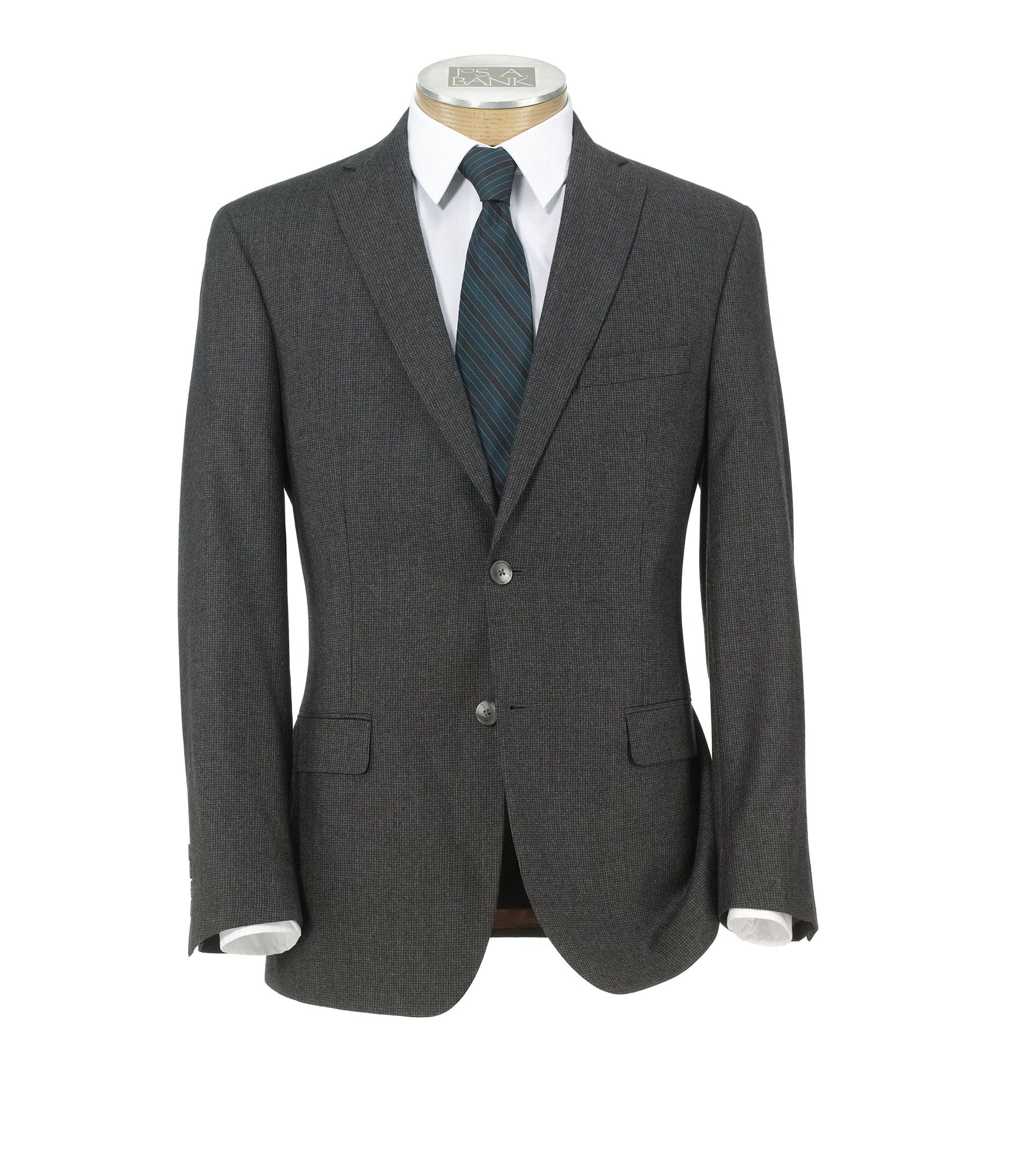 Jos a bank joseph slim fit 2 button wool cashmere plain for Jos a bank tailored fit vs slim fit shirts