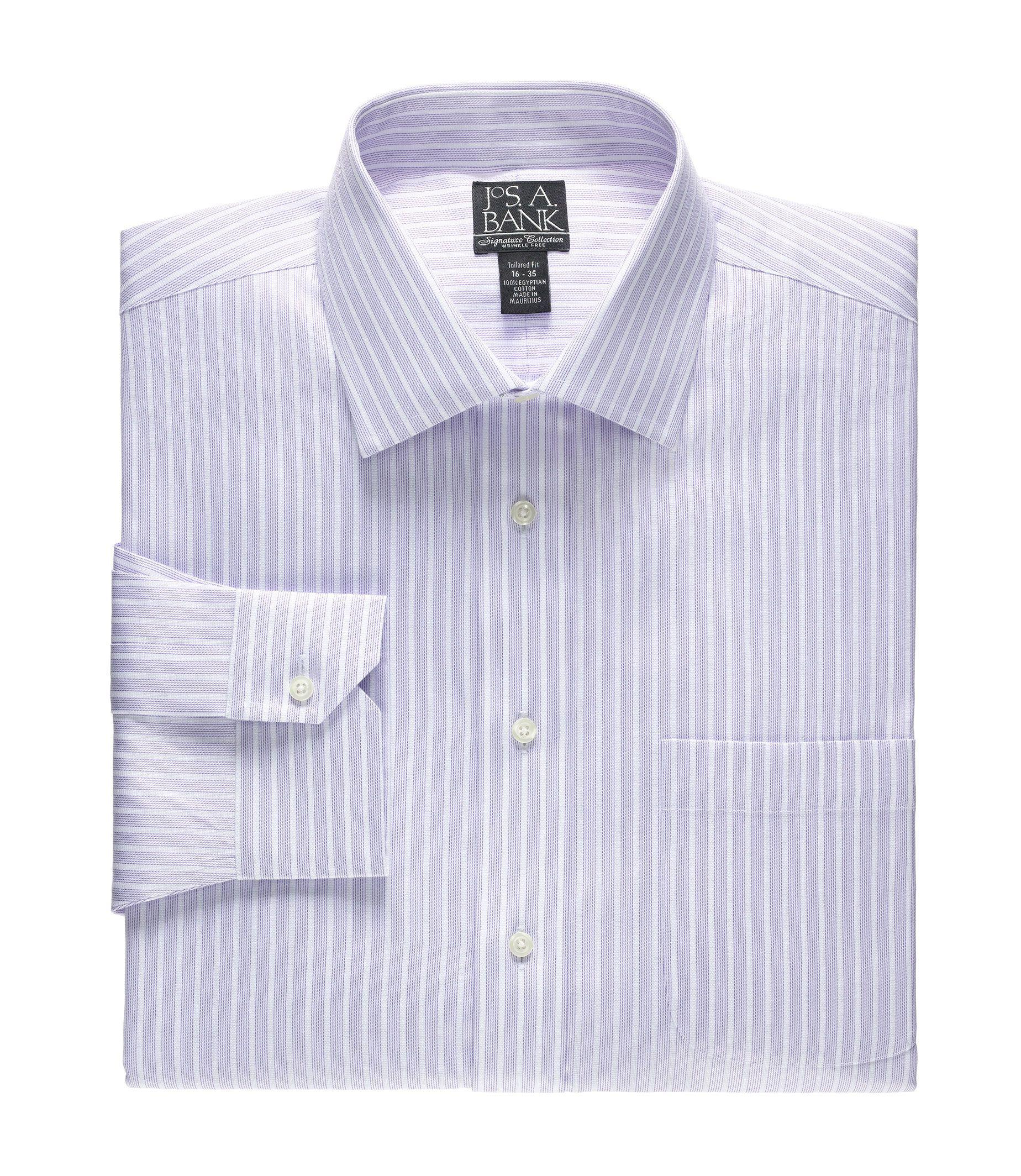Jos a bank signature collection traditional fit stripe for Joseph banks dress shirts