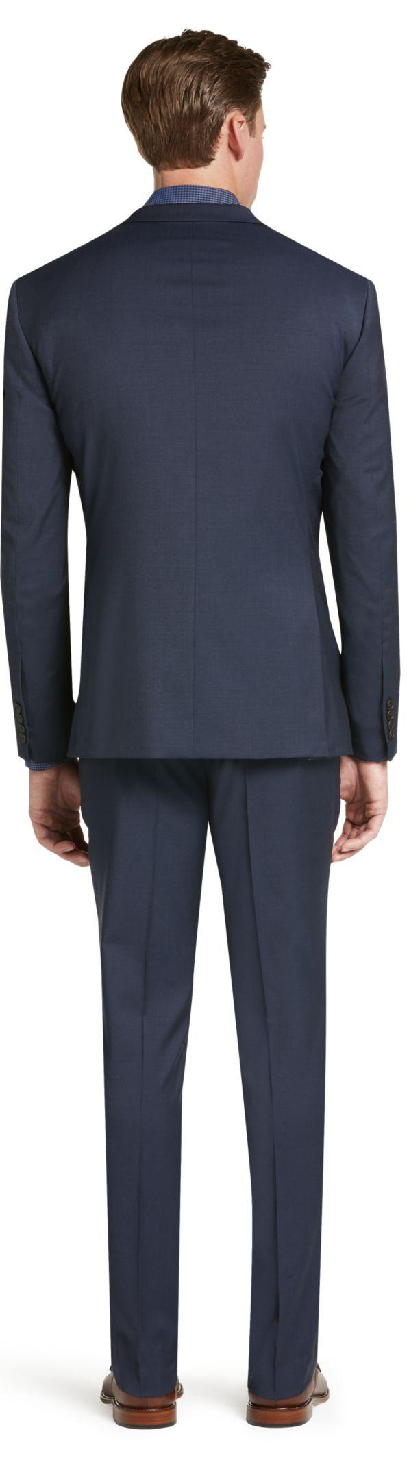 Jos A Bank Travel Tech Slim Fit Suit Separate Jacket In Blue For Men Lyst