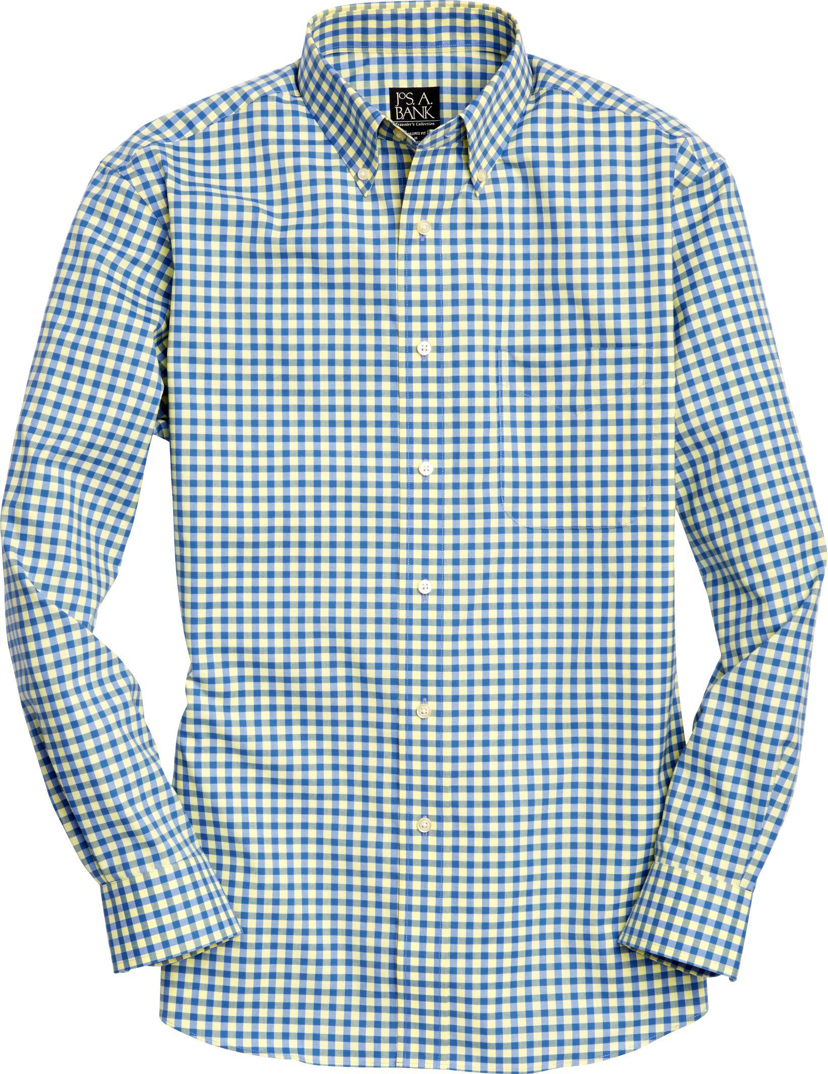 Lyst jos a bank traveller collection tailored fit for Jos a bank tailored fit vs slim fit shirts