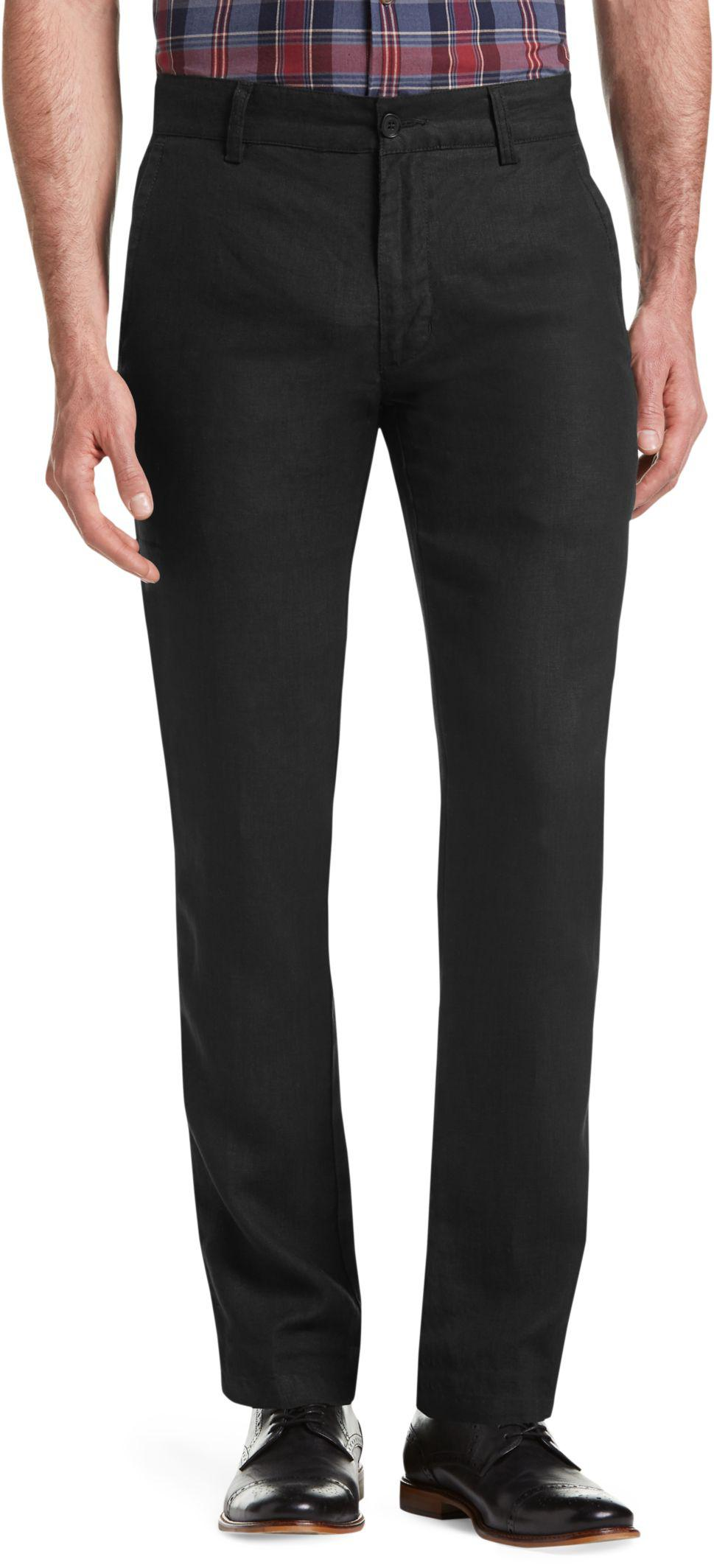 Lyst jos a bank joseph abboud tailored fit linen pants for Jos a bank tailored fit vs slim fit shirts