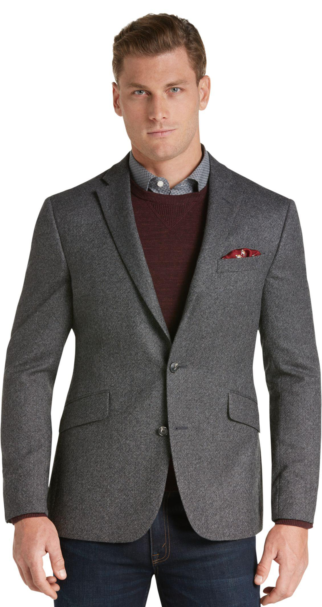 Jos a bank 1905 collection slim fit donegal sportcoat for Jos a bank slim fit vs tailored fit shirts